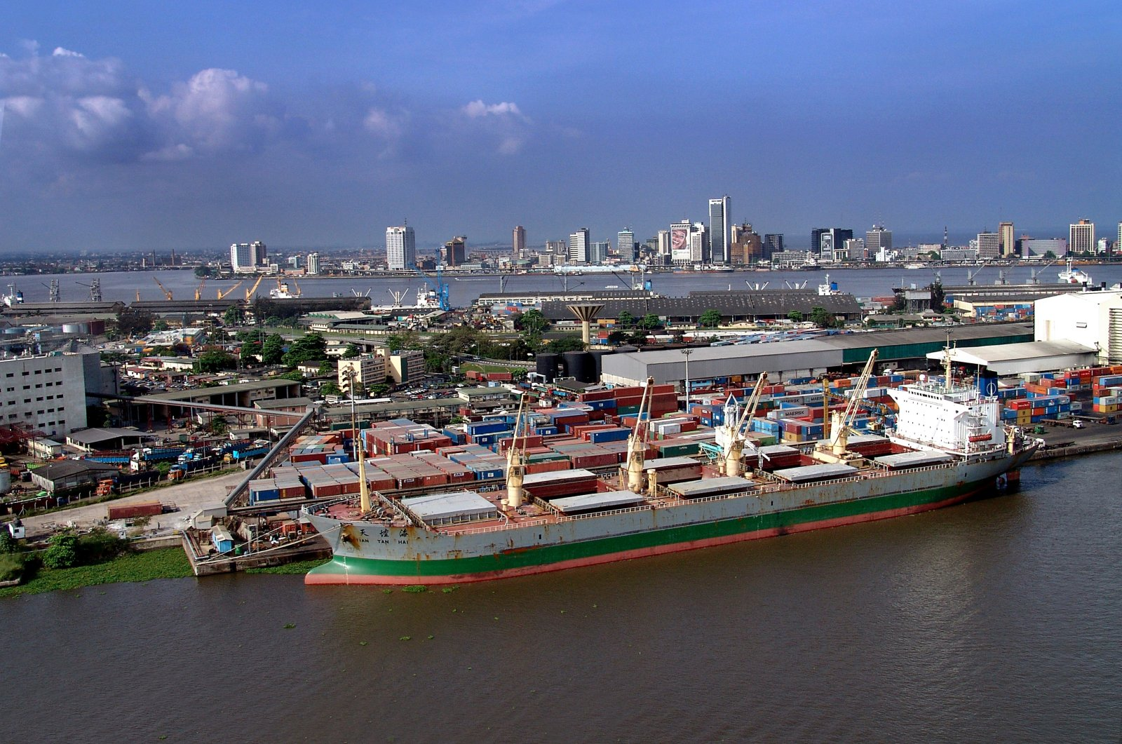 A port complex in the province of Lagos, Nigeria, Sept. 11, 2020. (Photo by Getty Images)