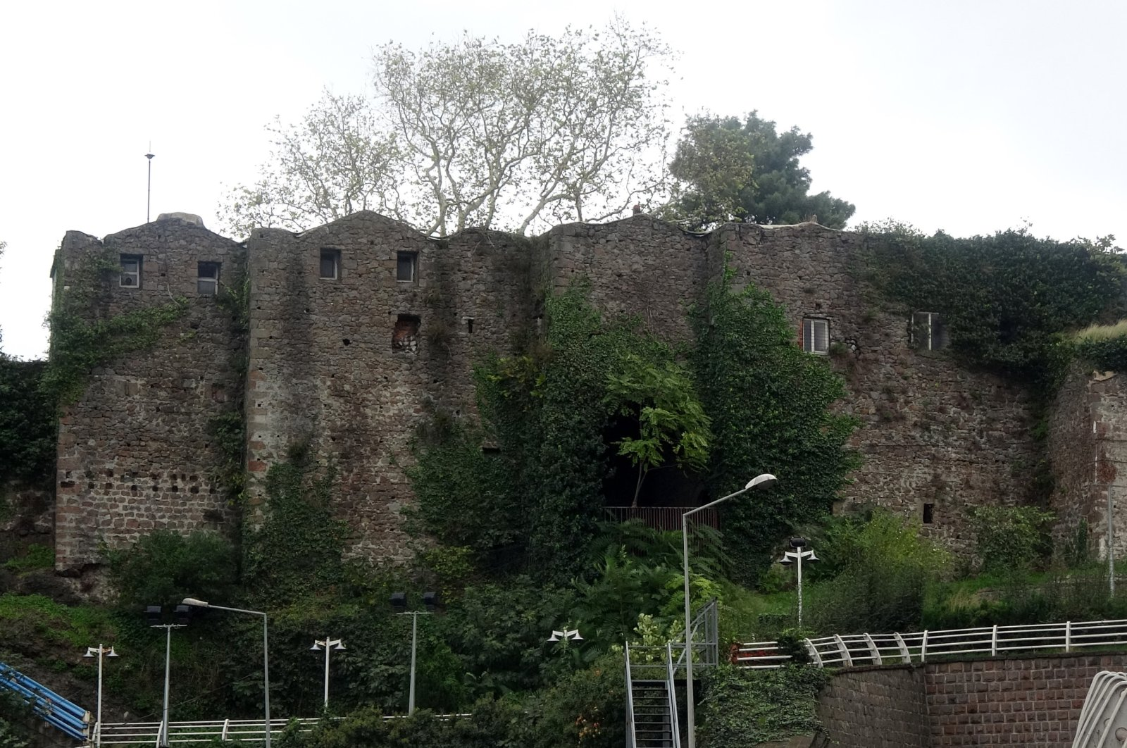 A view of the castle, in Trabzon, northern Turkey, Feb. 10, 2021. (DHA Photo)