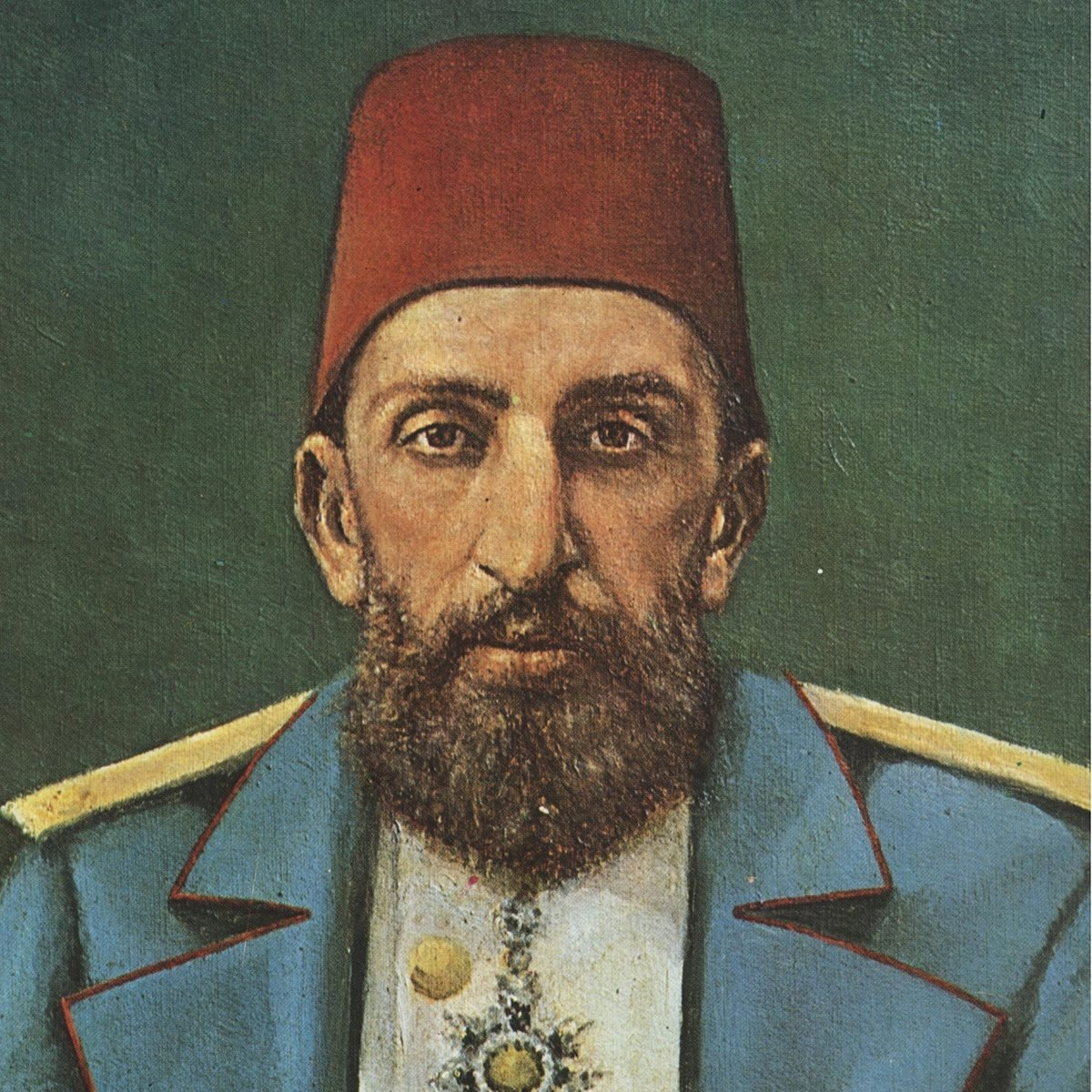 A portrait painting of Sultan Abdülhamid II. (Archive Photo)