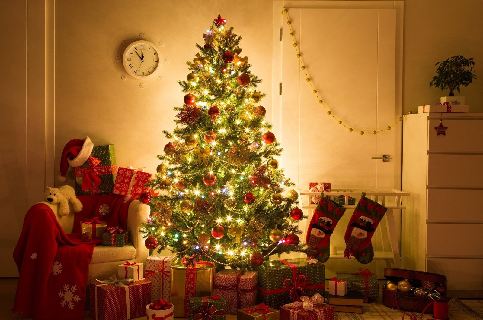 Decorating a pine tree for Christmas celebrations is taken from pagan customs and ceremonies for New Year's. (Shutterstock Photo)