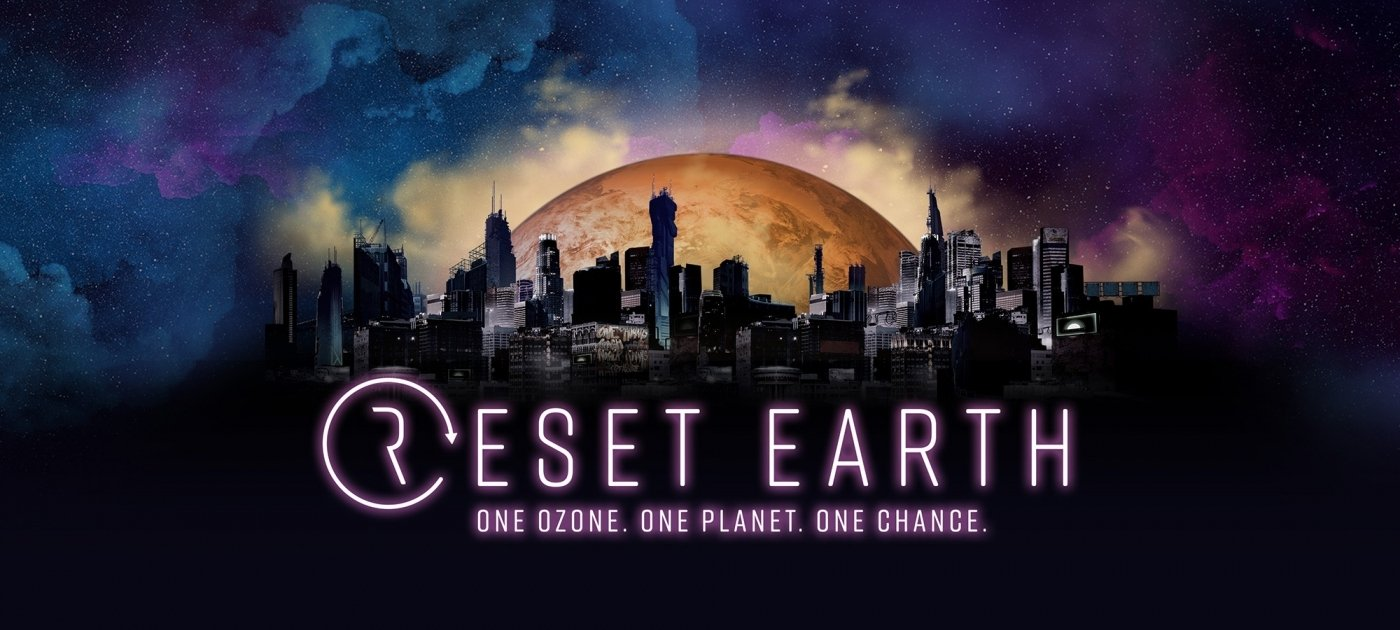 "A poster of the mobile video game ""Reset Earth"" with the caption ""One Ozone. One Planet. One Chance."" (Photo Courtesy of United Nations)"