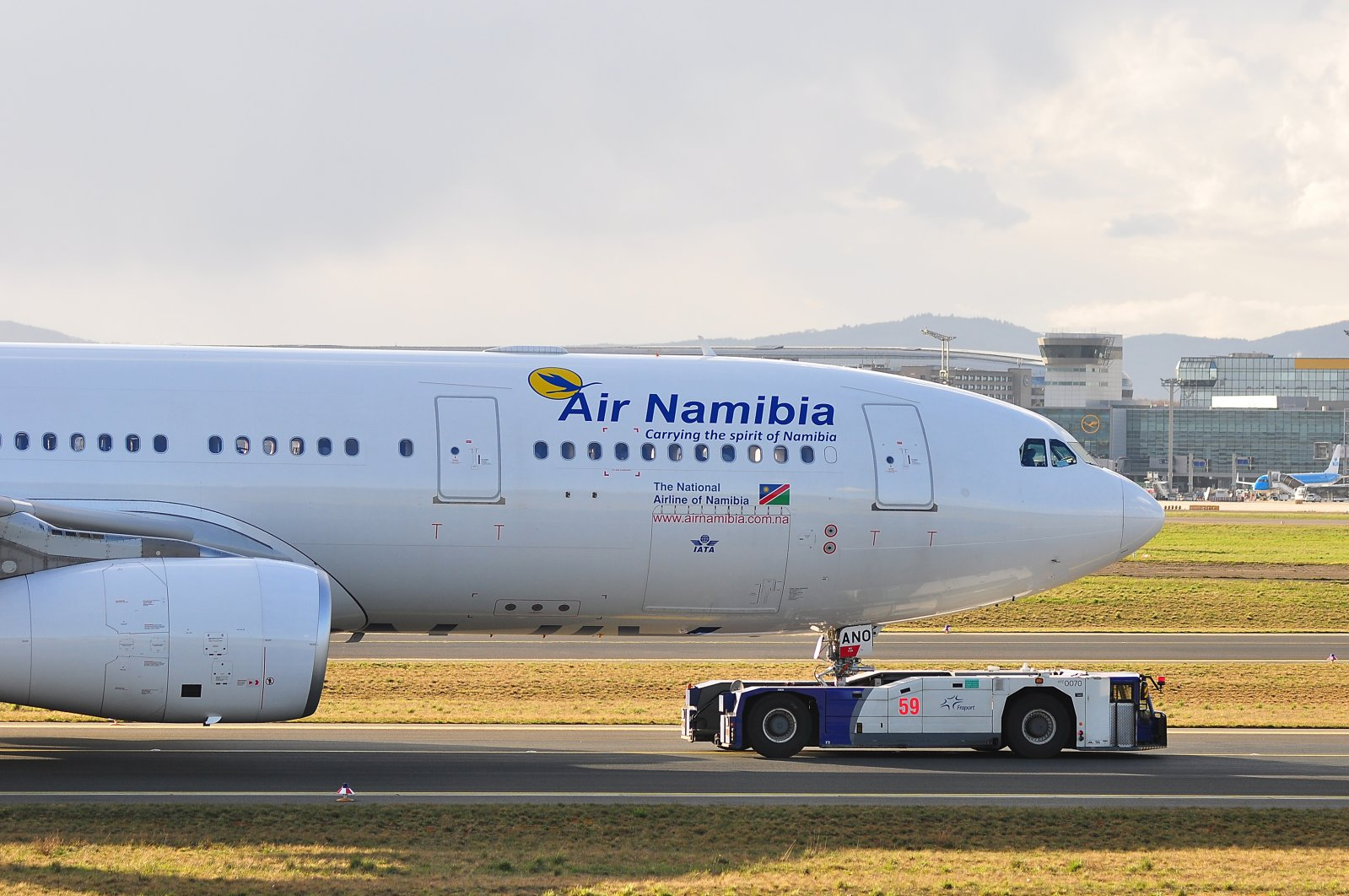 An Air Namibia aircraft on the runway, in Frankfurt, Germany, April 7, 2016. (Shutterstock Photo)