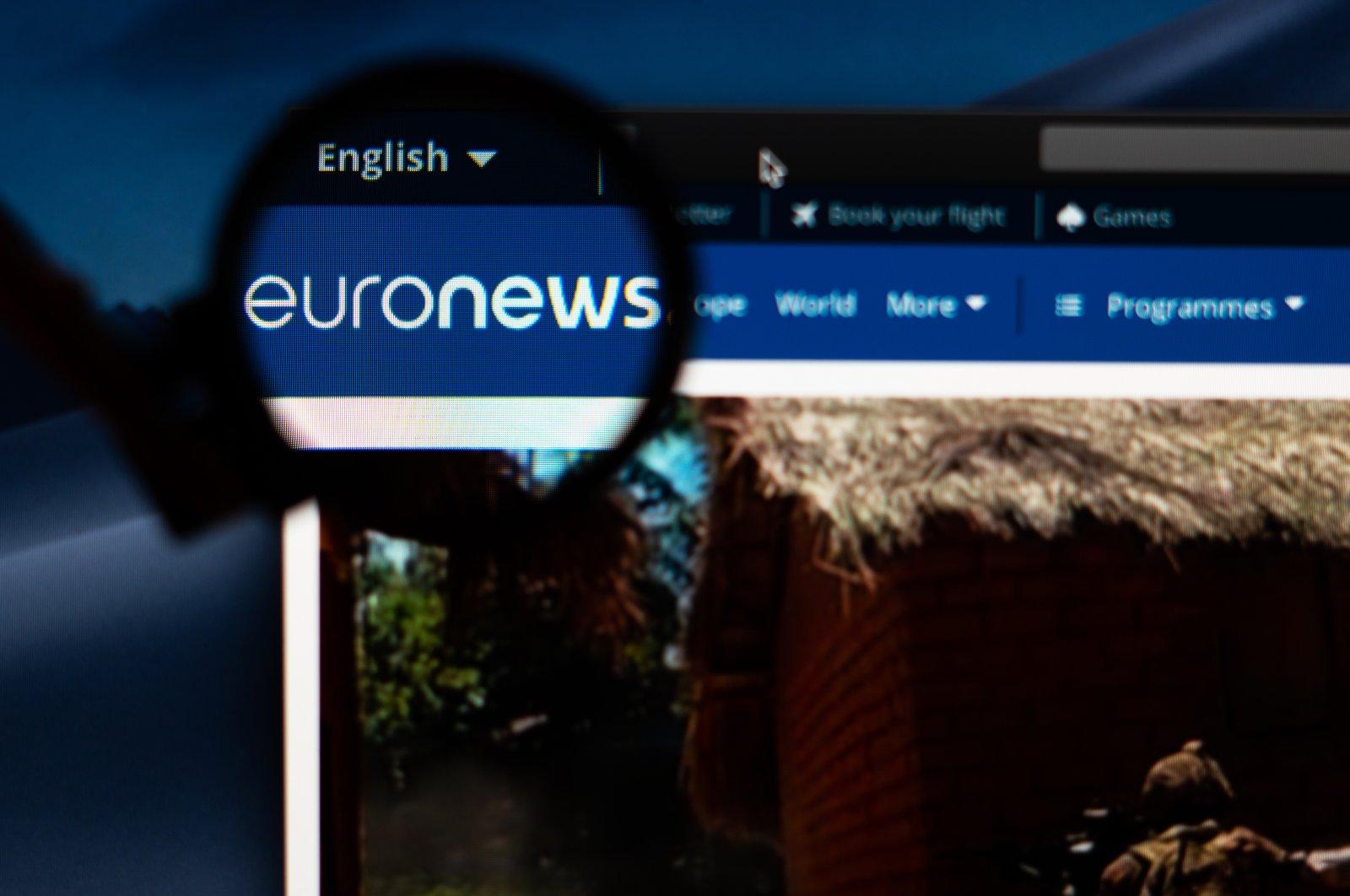 The Euronews logo on its website's homepage, Tallinn, Estonia, Jan. 18, 2019. (Shutterstock Photo)