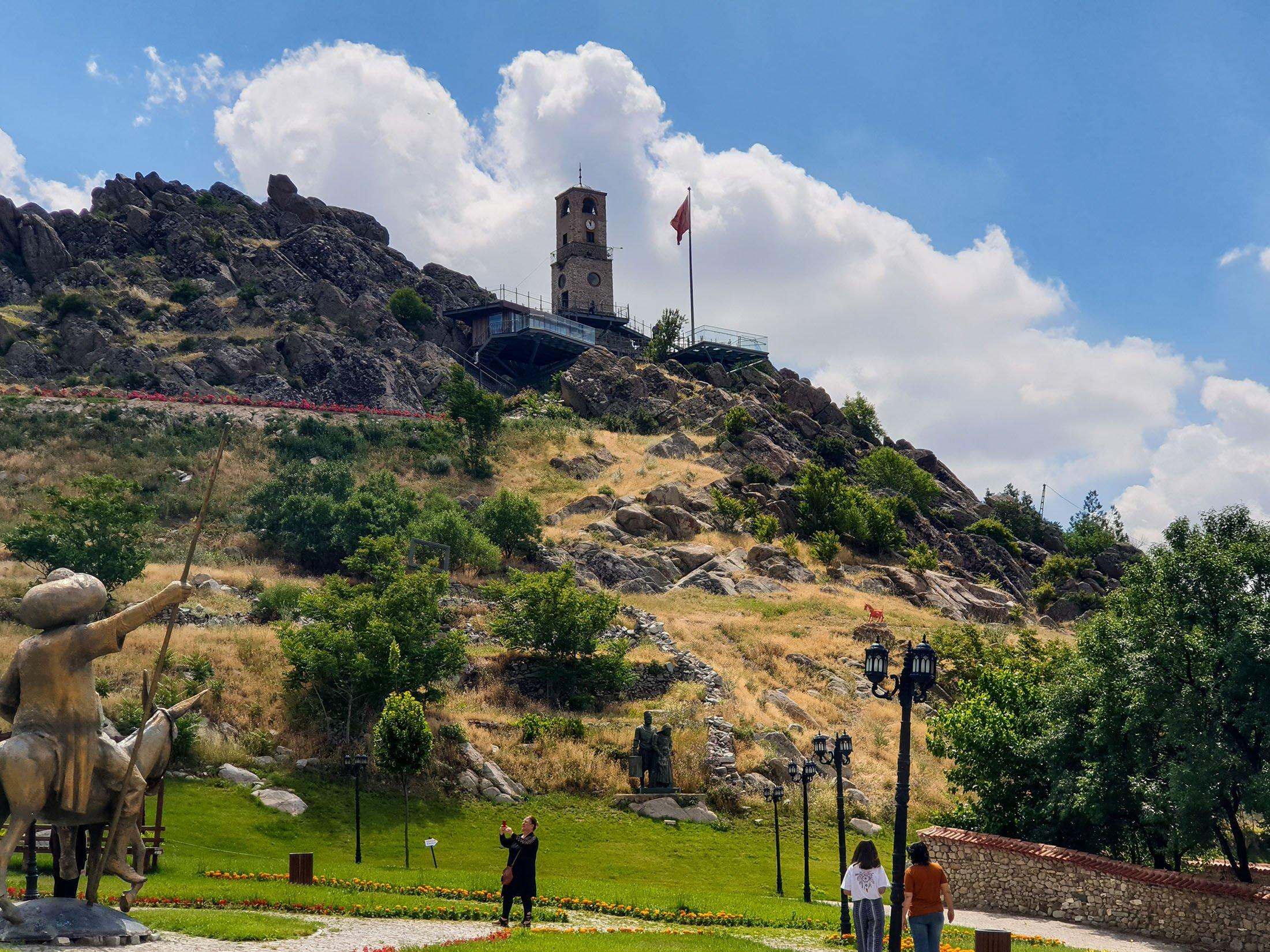 The Sivrihisar Clock Tower, Sivrihisar, Eskişehir, central Turkey.  (Photo by Argun Konuk)