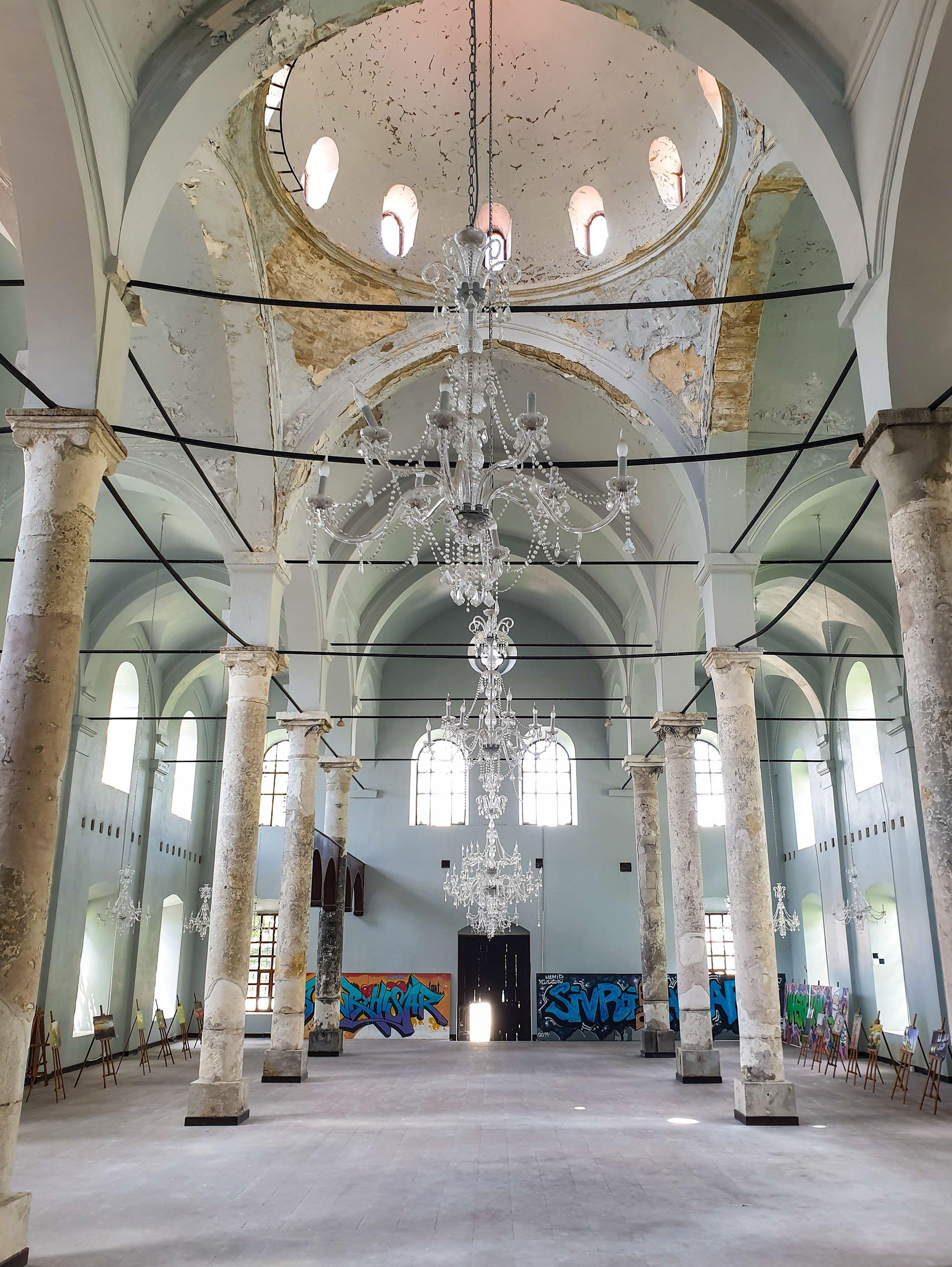 The interior of the Sivrihisar Armenian Church, Sivrihisar, Eskişehir, central Turkey.  (Photo by Argun Konuk)