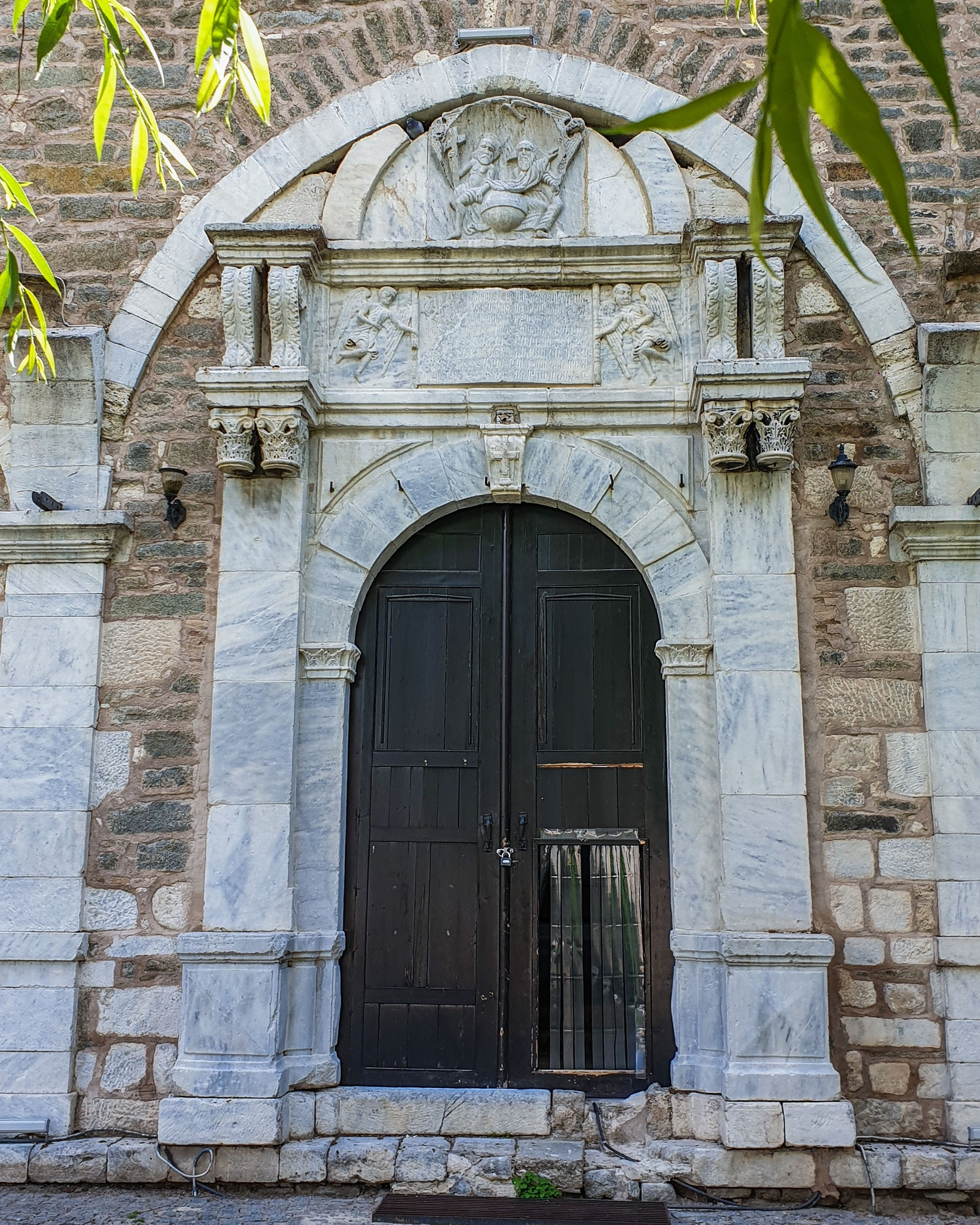 The impressive entrance to the Sivrihisar Armenian Church, Sivrihisar, Eskişehir, central Turkey. (Photo by Argun Konuk)