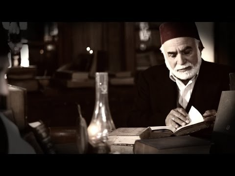 A still shot shows an actor as Ali Emiri Efendi from the documentary titled
