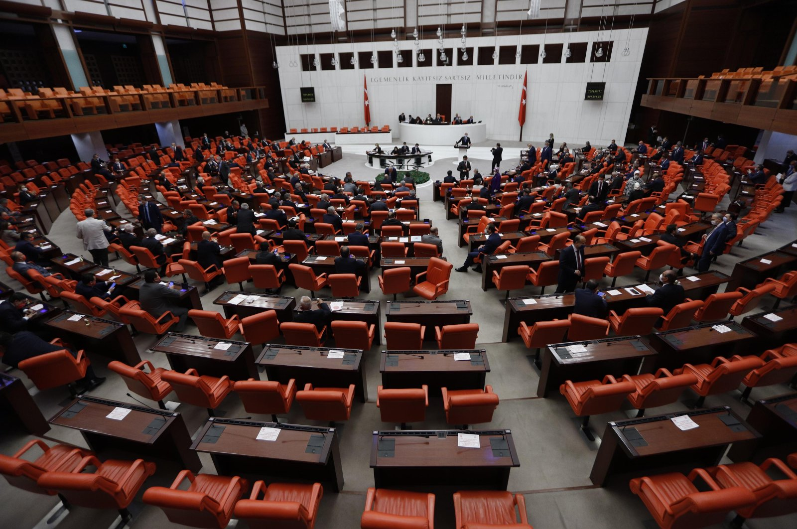 A view of the General Assembly of the Grand National Assembly of Turkey in the capital Ankara, Turkey, July 7, 2020. (DHA Photo)