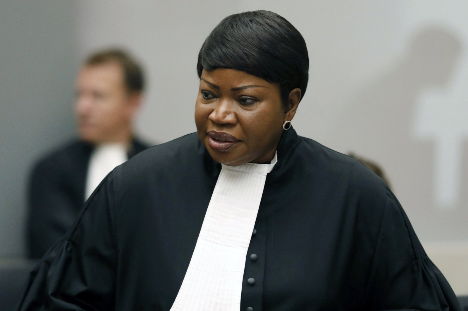 Prosecutor Fatou Bensouda at the International Criminal Court (ICC) in The Hague, the Netherlands, Aug. 28, 2018. (AP Photo)