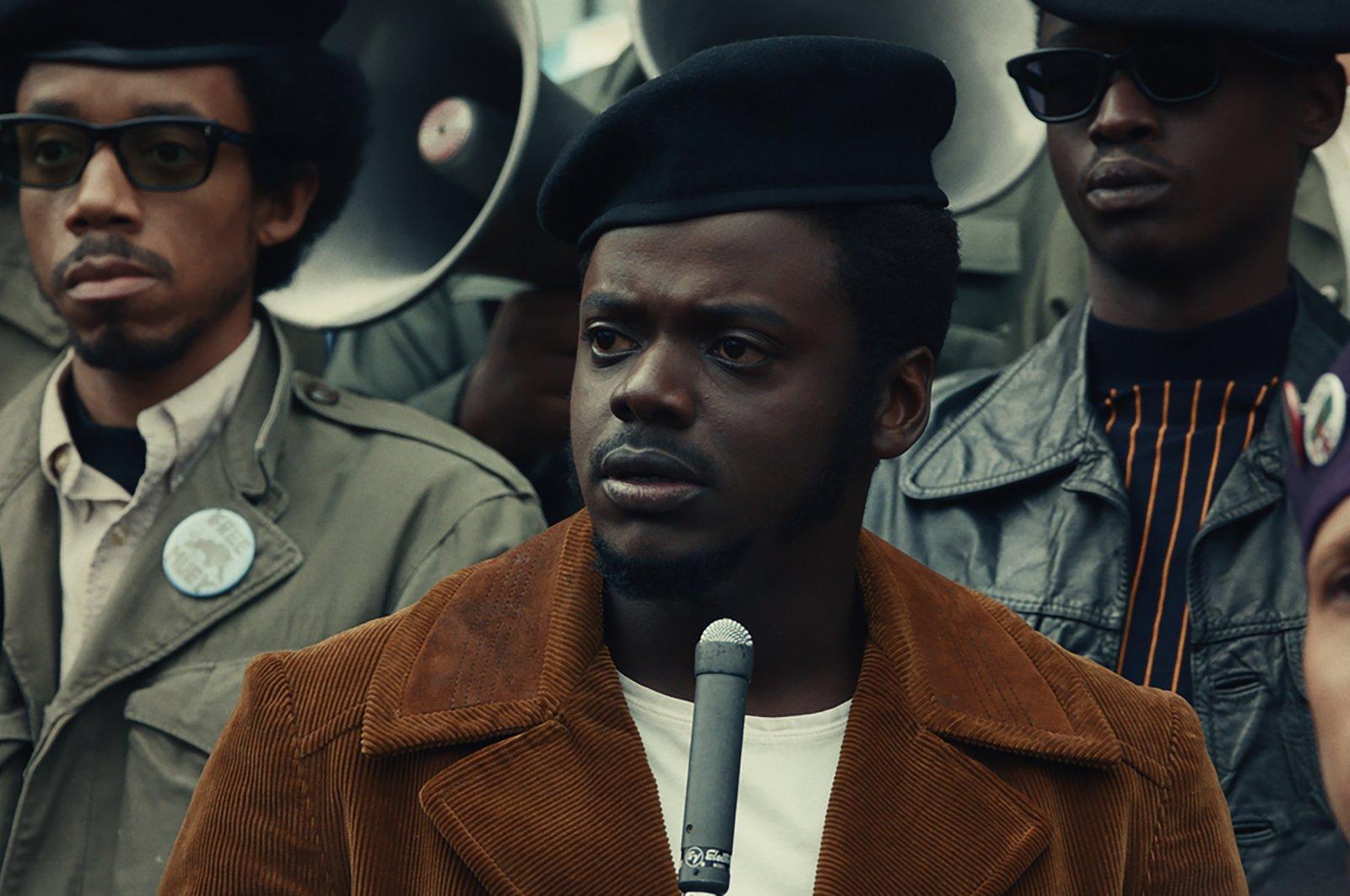 "Daniel Kaluuya (C) portraying Fred Hampton in a scene from ""Judas and the Black Messiah."" (Warner Bros. Pictures via AP)"
