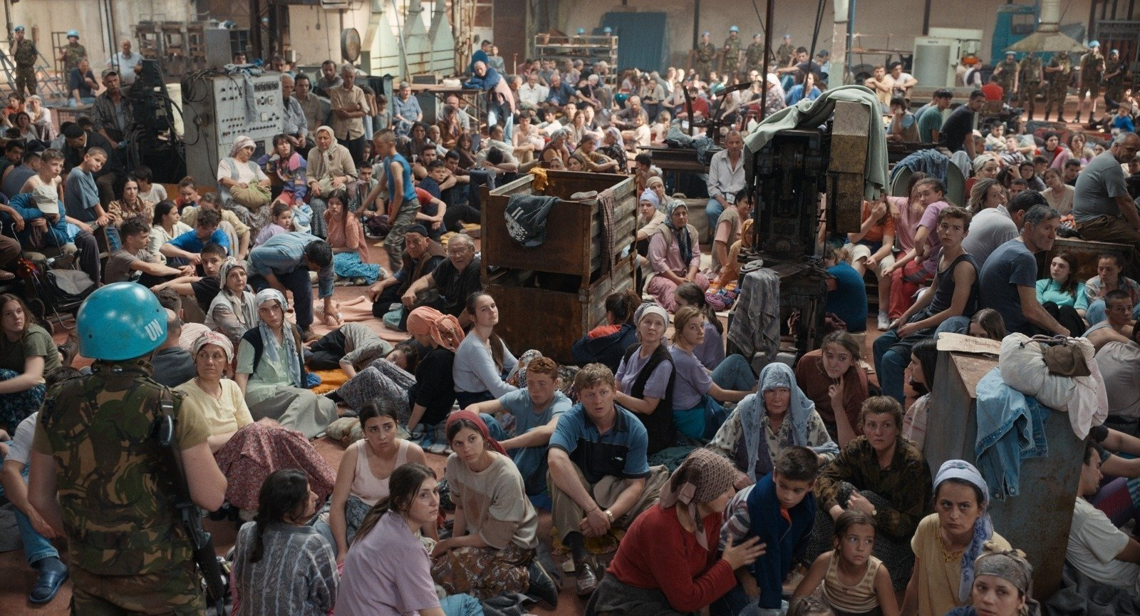 "A still shot from ""Quo Vadis, Aida?"" shows Bosnian Muslims inside the U.N. compound."