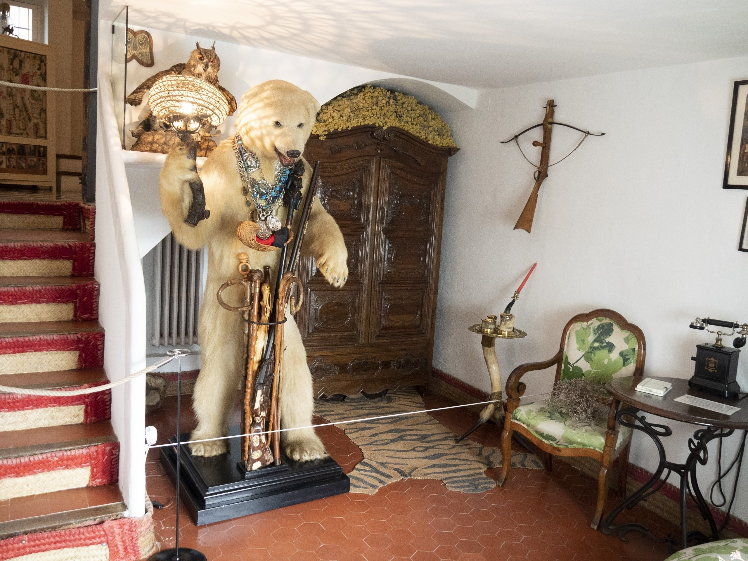This is what you see when you walk into the Dali home in Port Lligat. (DPA Photo)