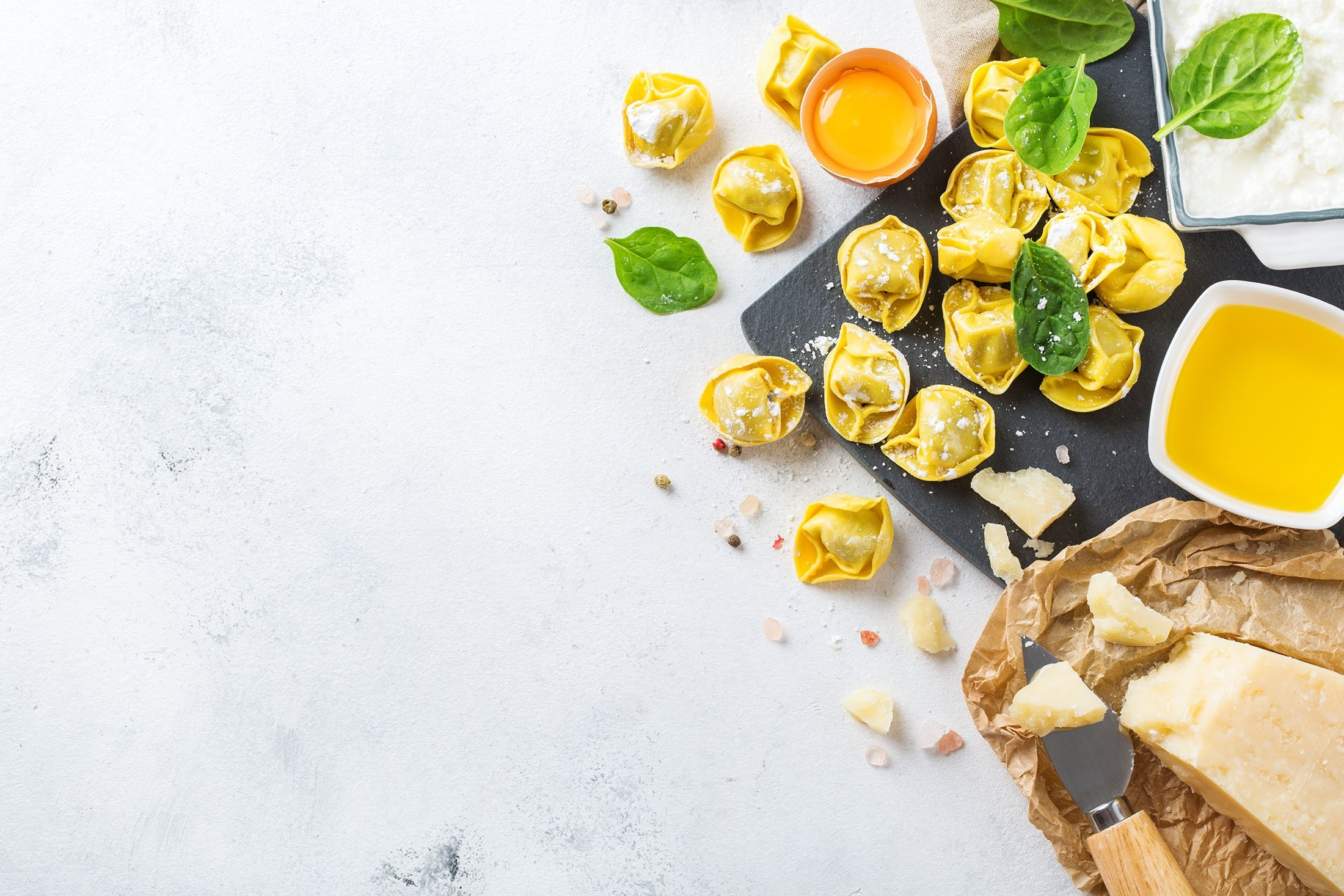 With a bit of meat, leafy greens or cheese, you too can make your own homemade tortellini. (Shutterstock Photo)