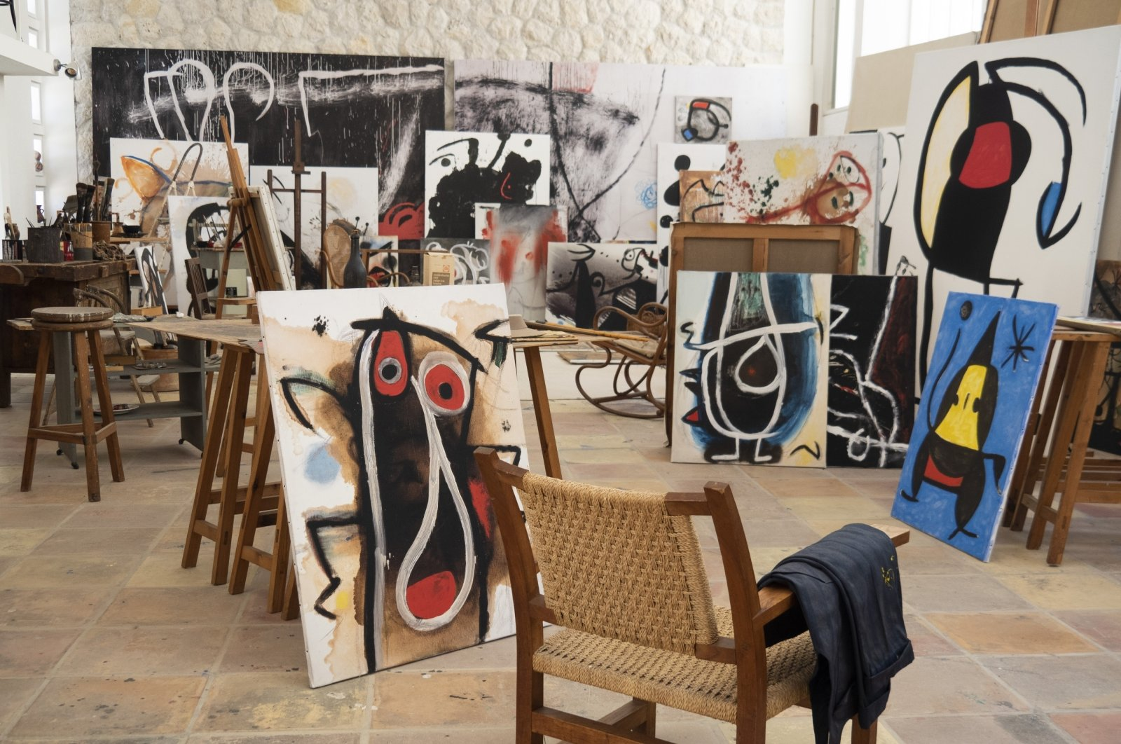 One of two studios of Joan Miro in Palma de Mallorca. (DPA Photo)