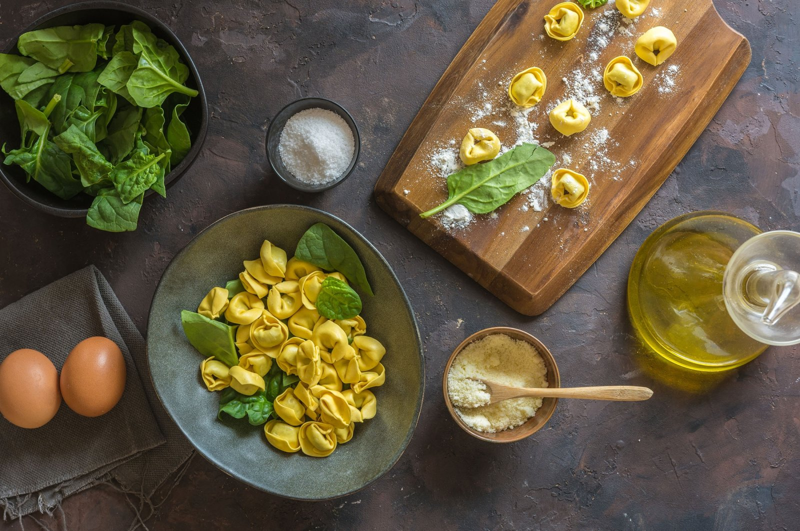 Tortelloni can be made with ricotta, spinach and/or parsley. (Shutterstock Photo)