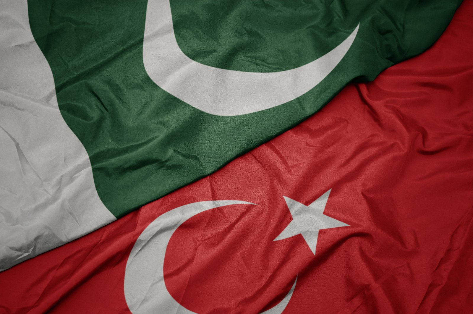 Pakistan and Turkey flags. (Shutterstock Photo)