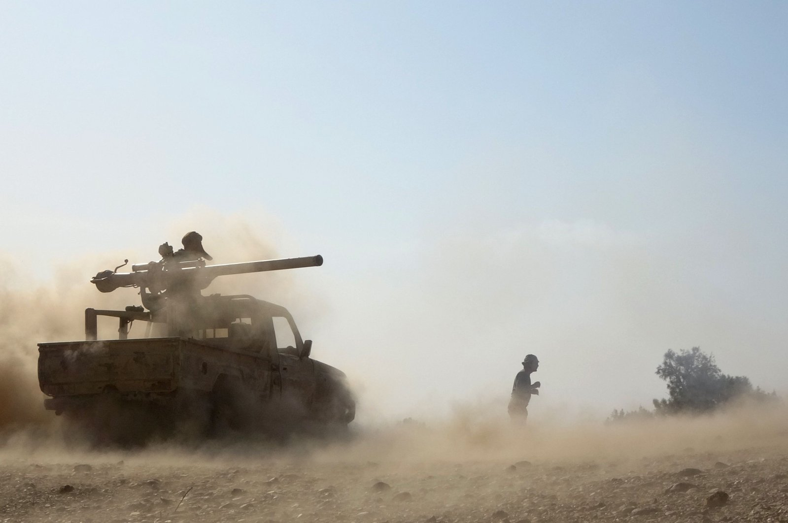 Saudi-backed government troops repel a Houthi rebel offensive on oil-rich Marib, some 120 kilometers (75 miles) east of Yemen's rebel-held capital Sanaa, on Feb. 14, 2021. (AFP Photo)
