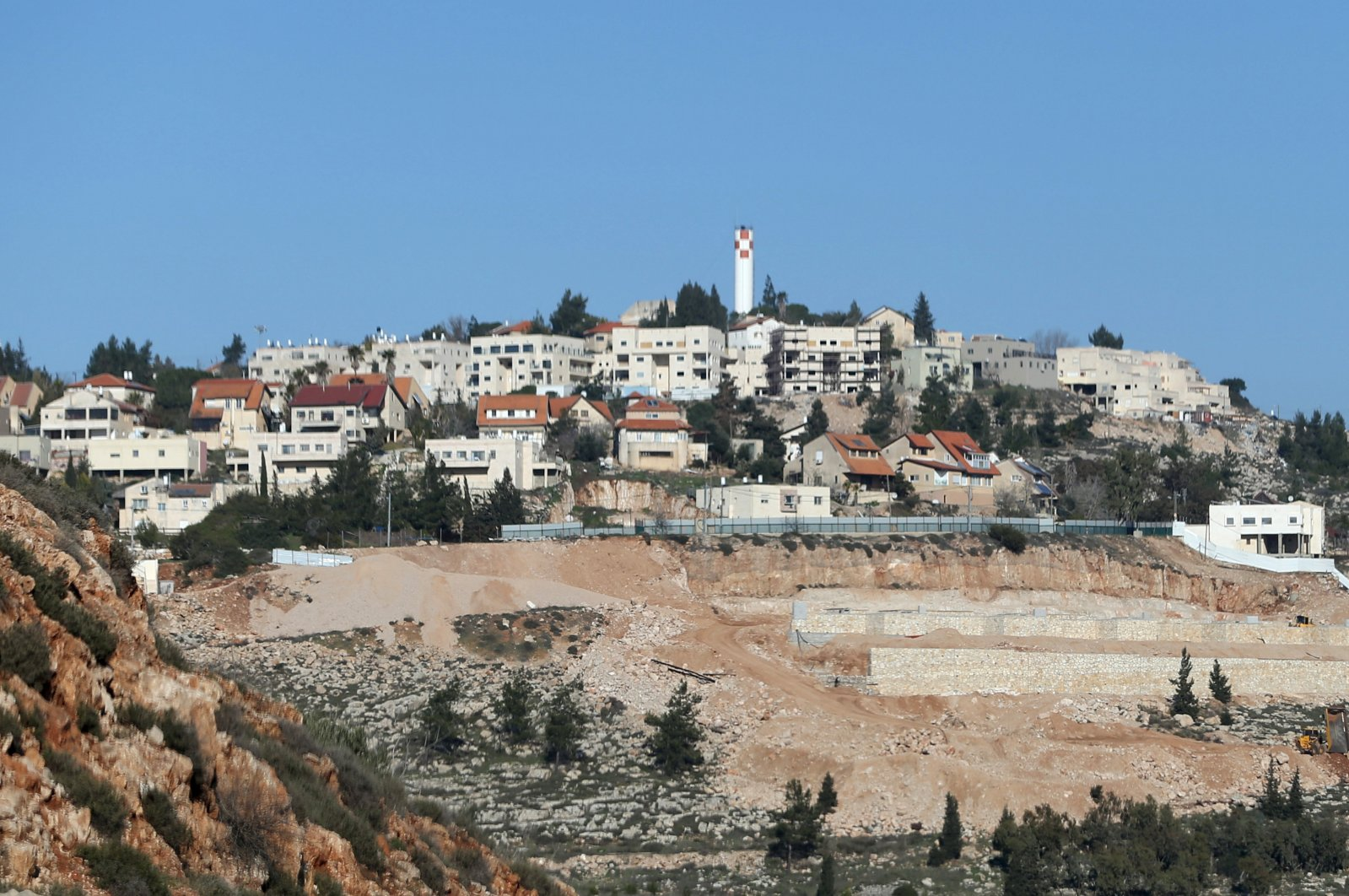 A general view of illegal Israeli settlement of Shiloh in occupied West Bank, Feb. 3, 2016. (Reuters Photo)