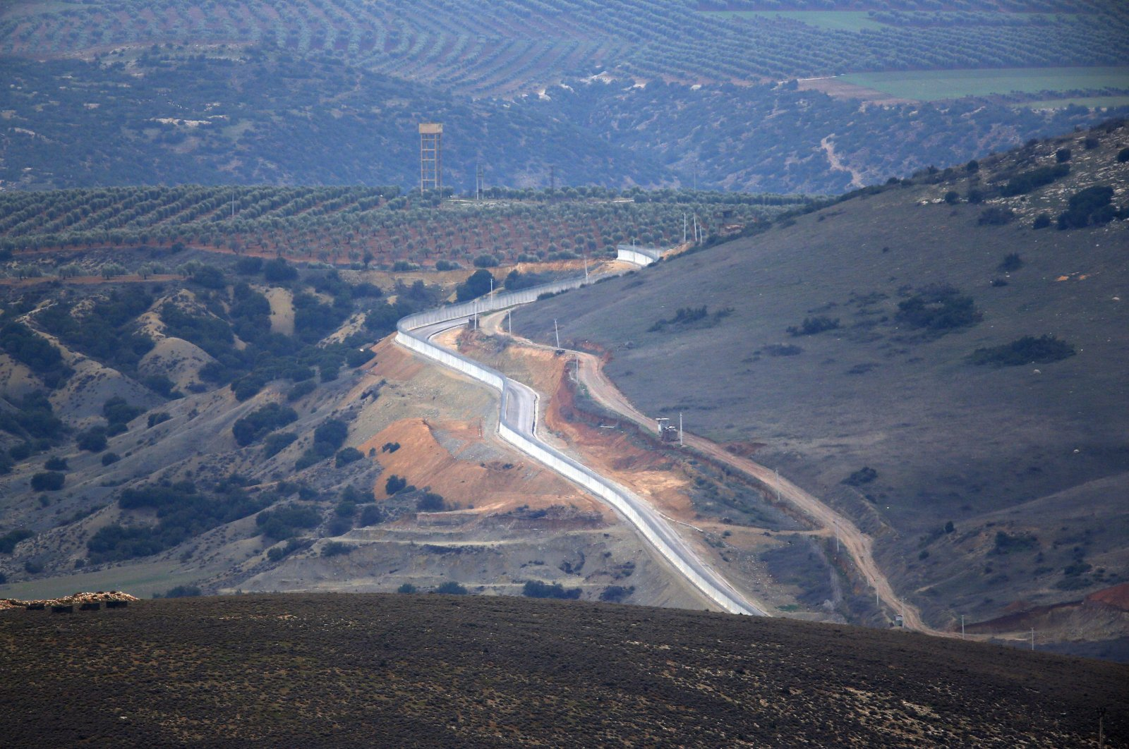 A view of the Turkey-Syria border as seen from the southern Hatay province, Turkey, Wednesday, Jan. 24, 2018. (AP File Photo)