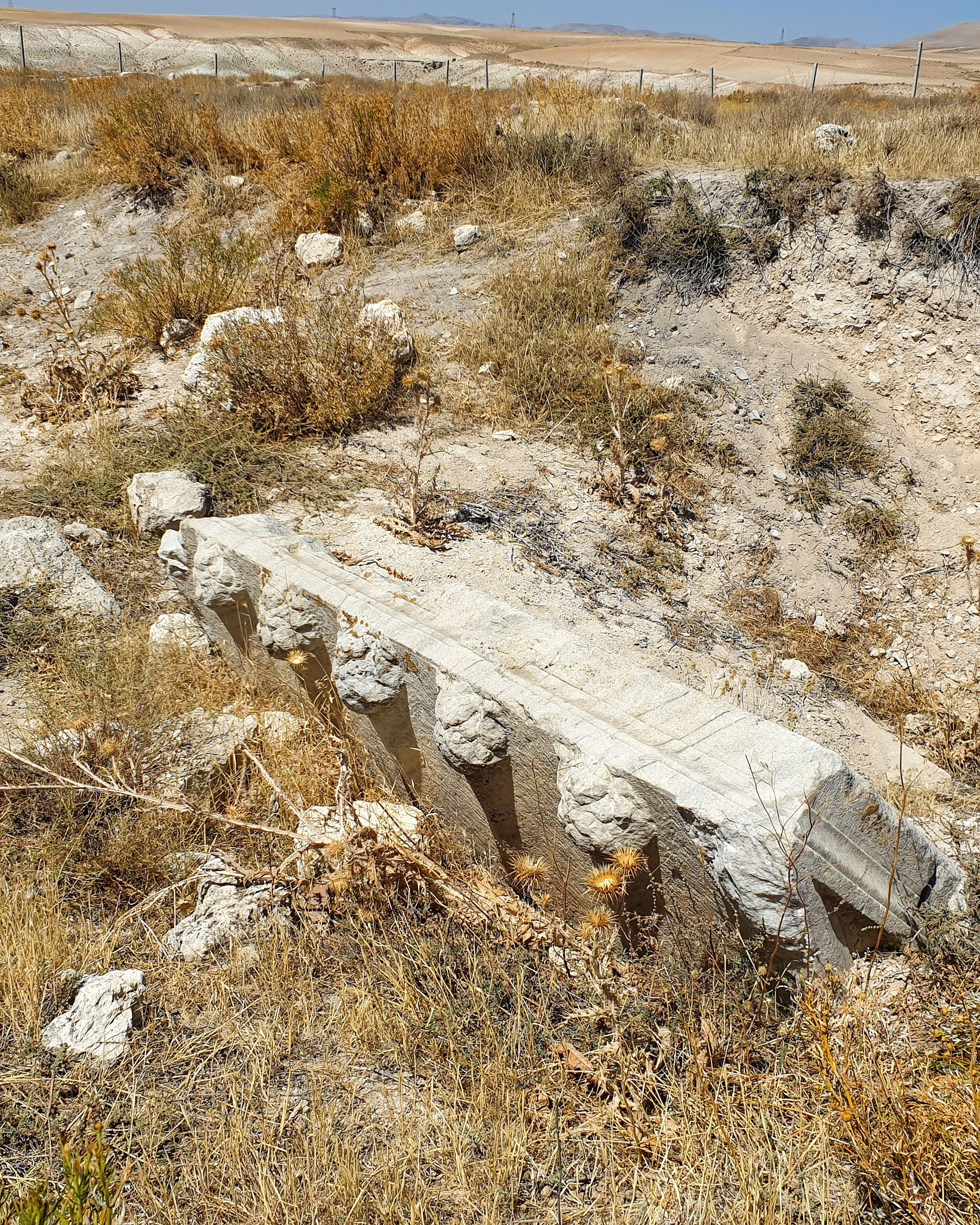 The lid of a sarcophagus on the mysterious field. (Photo by Argun Konuk)