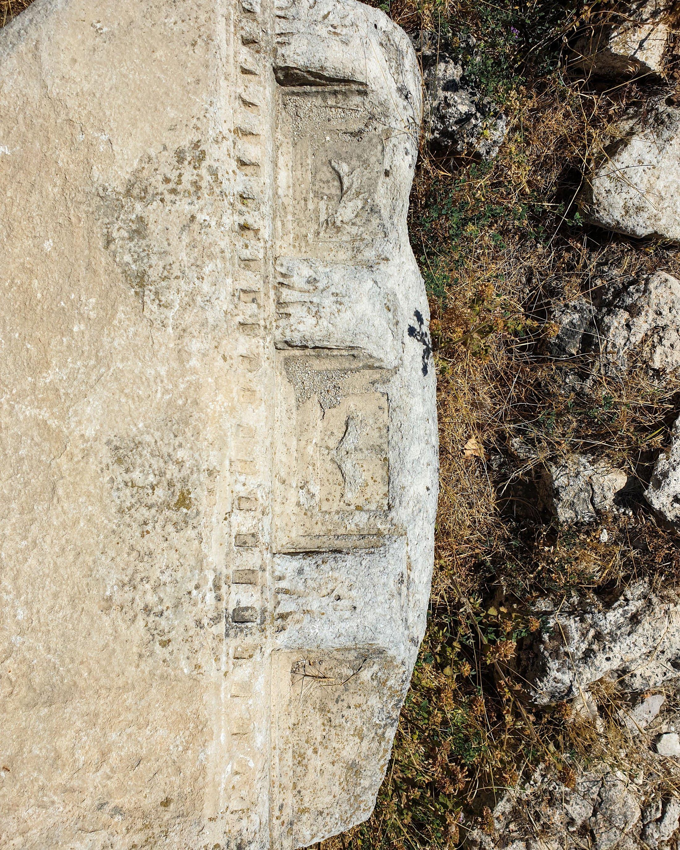 Architectural fragments in Agora at Pessinus. (Photo by Argun Konuk)