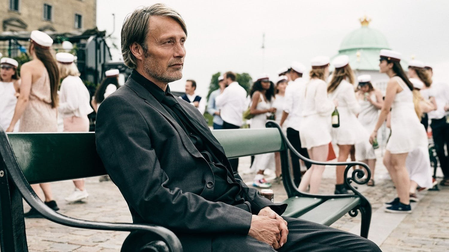 "Mads Mikkelsen in a scene from ""Druk"" (""Another Round"")."