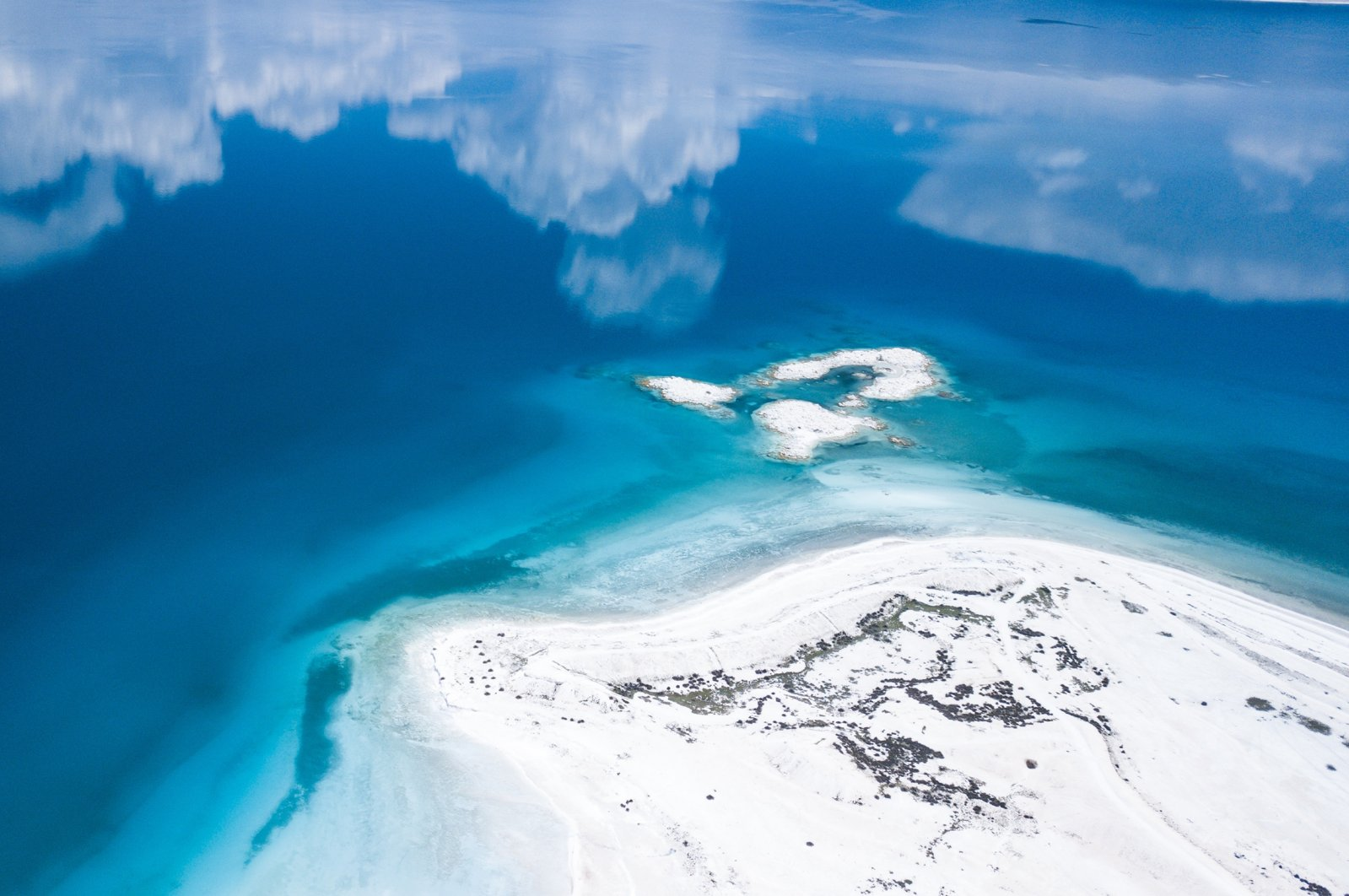 An aerial view of Lake Salda in Burdur province, southwestern Turkey. (Shutterstock Photo)