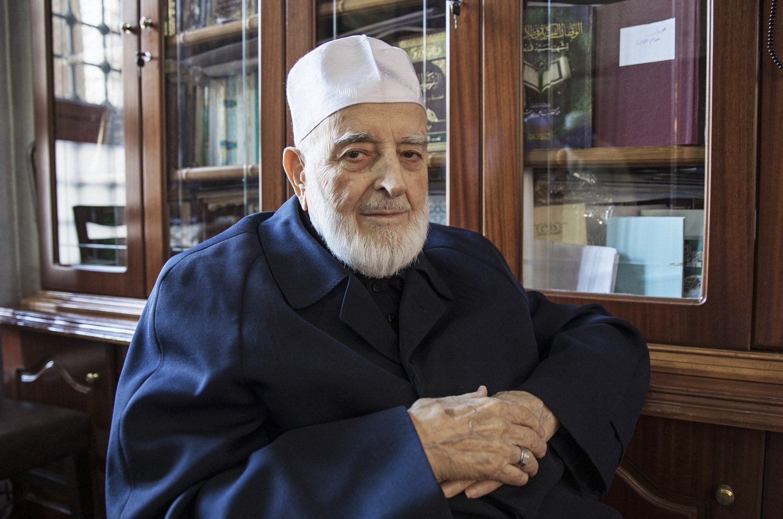 Late hadith scholar Muhammed Emin Saraç is seen in this undated file photo. (AA Photo)