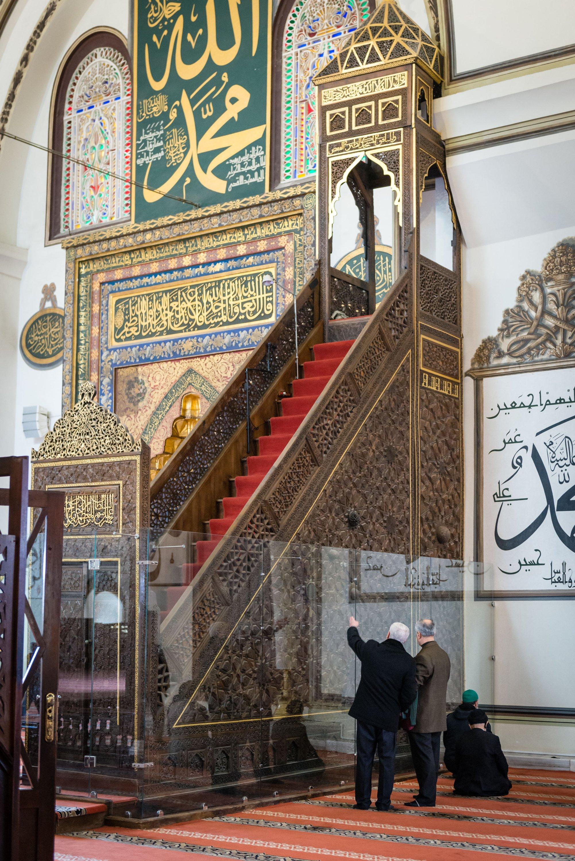 The minbar of the Great Mosque of Bursa, Turkey, Feb. 04, 2017. (Shutterstock Photo)