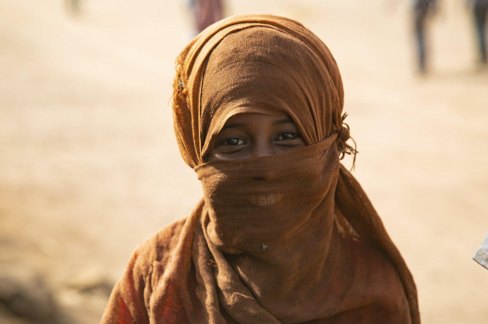 An Ethiopian refugee looks at the camera at a refugee camp in Al Qadarif state, Sudan, Feb. 19, 2021. (AA Photo)