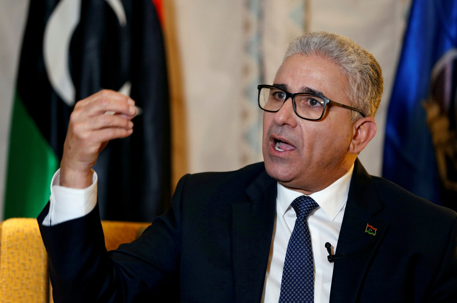Libya's Interior Minister Fathi Bashagha speaks during an interview with Reuters in Tunis, Tunisia, March 1, 2020. (Reuters Photo)