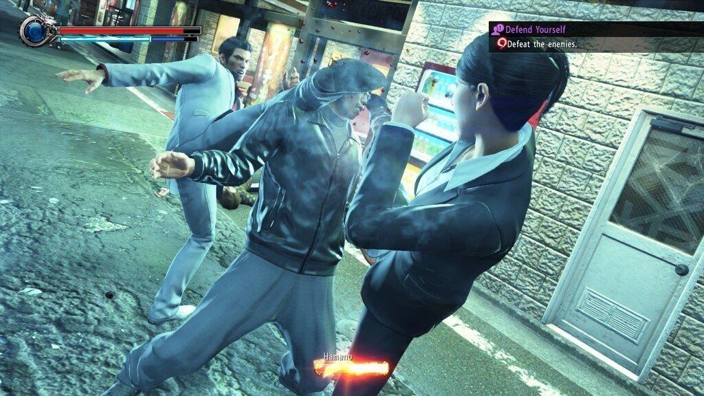 Pulling off some heated moves with Detective Kaoru Sayama in Yakuza: Kiwami 2 is quite satisfying. (Image credit: SEGA)
