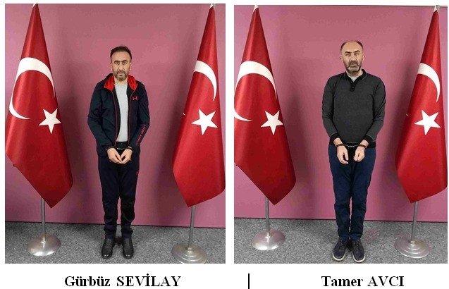 Photos of Gürbüz Sevilay and Tamer Avcı side by side after their arrival to Turkey, Feb.15, 2021. (IHA)