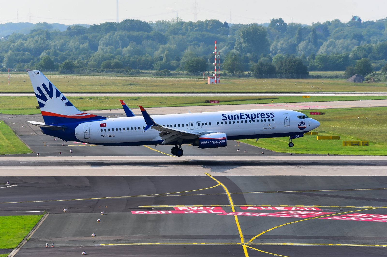 A SunExpress Airlines Boeing 737-800 is seen at the airport in Düsseldorf, Germany, June 3, 2018. (Shutterstock Photo)
