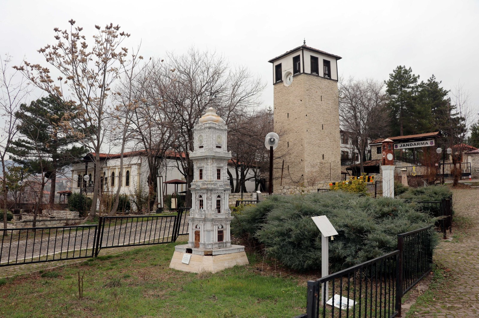 Miniature clock towers at the Anatolia Miniature Clock Towers Museum Safranbolu district, Karabük, northwestern Turkey, Feb. 20, 2021. (AA Photo)