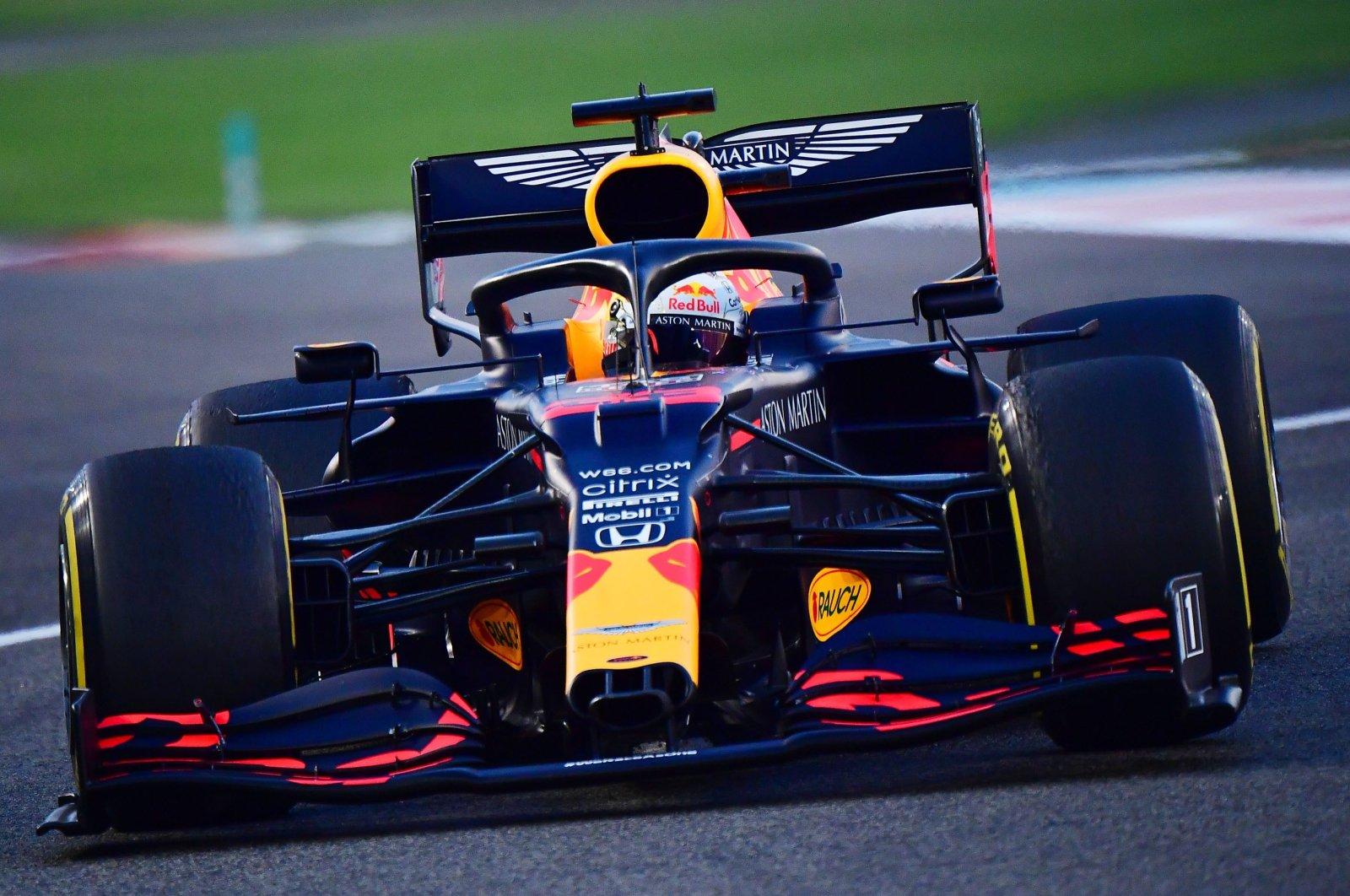 Red Bull's Max Verstappen in action during Formula One Abu Dhabi Grand Prix, Yas Marina Circuit, Abu Dhabi, United Arab Emirates, Dec. 13, 2020. (Reuters Photo)