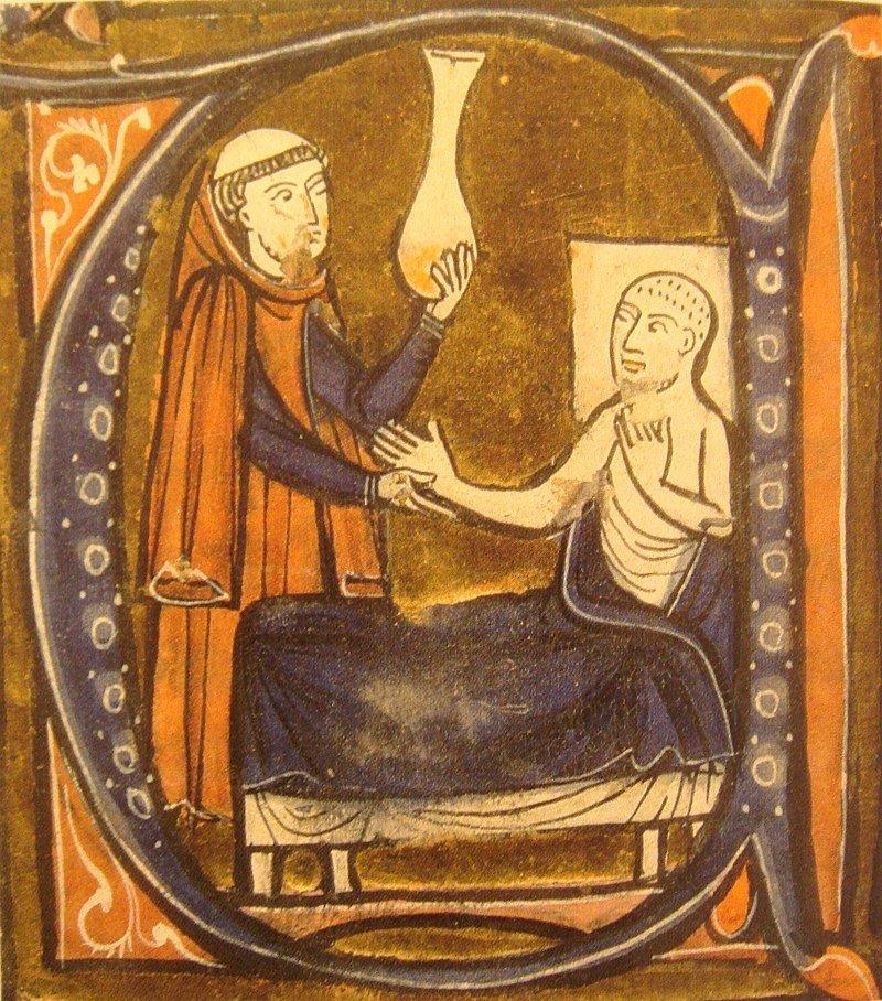 A European depiction of the Persian physician Al-Razi.