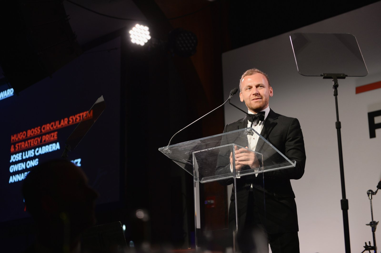 Parsons Dean of Fashion Burak Çakmak speaks onstage during the 70th Annual Parsons Benefit in New York City, May 21, 2018.  (Getty Images)