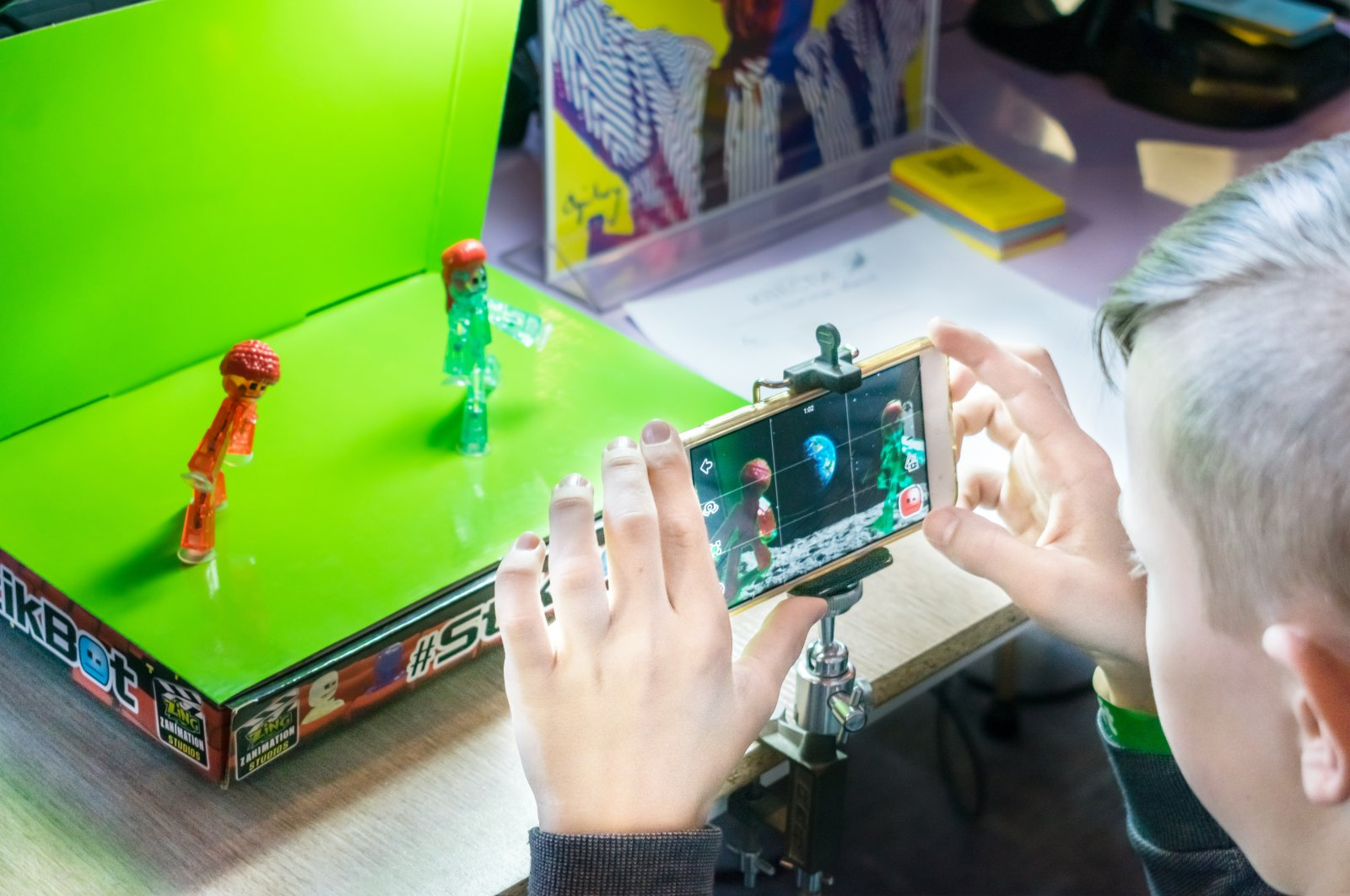 Children will learn the stop-motion technique and produce animated short films at the workshop. (Shutterstock Photo)