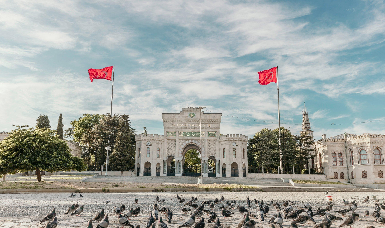 A photo of the Bayezid entrance gate of Istanbul University, Istanbul, Turkey, May 2020. (Shutterstock Photo)