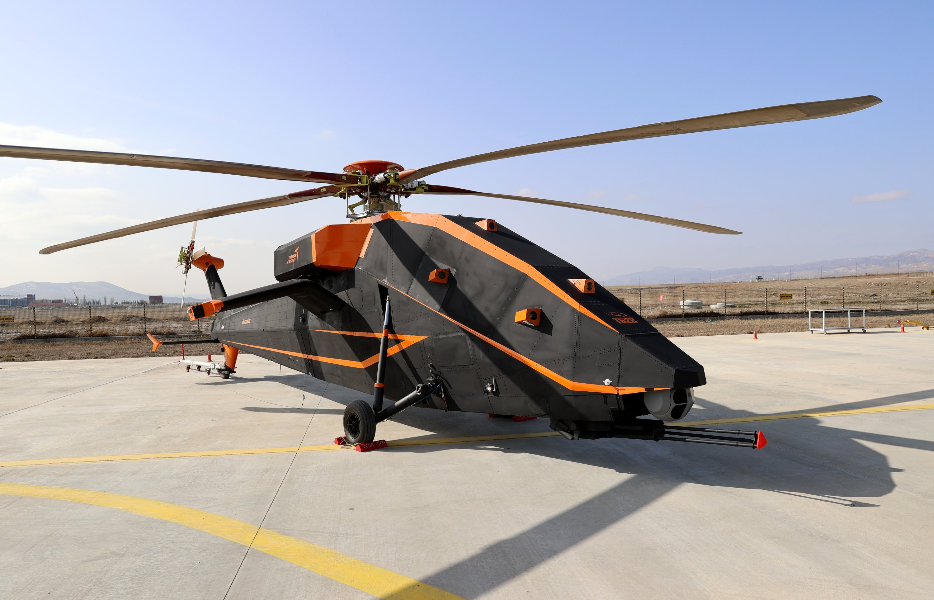 An early prototype of the T629 unmanned, electric attack helicopter of TAI, Ankara, Turkey, Feb. 25, 2021. (AA Photo)