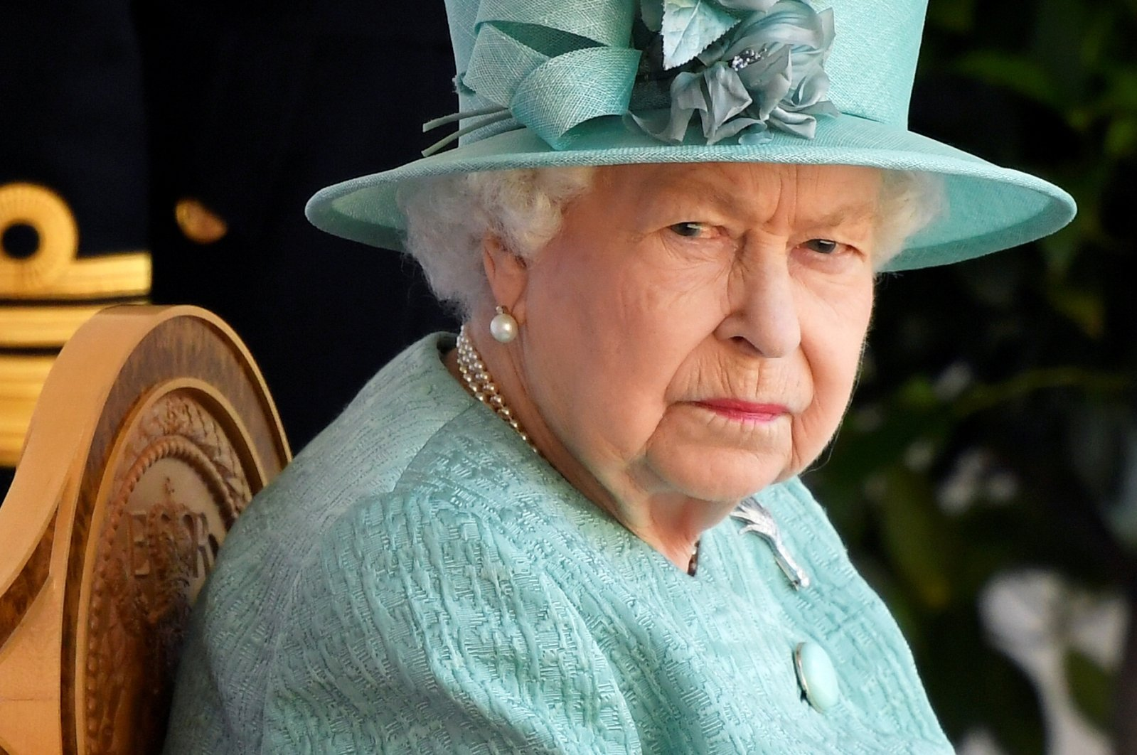 Britain's Queen Elizabeth attends a ceremony marking her birthday at Windsor Castle in Windsor, Britain, June 13, 2020. (Reuters Photo)