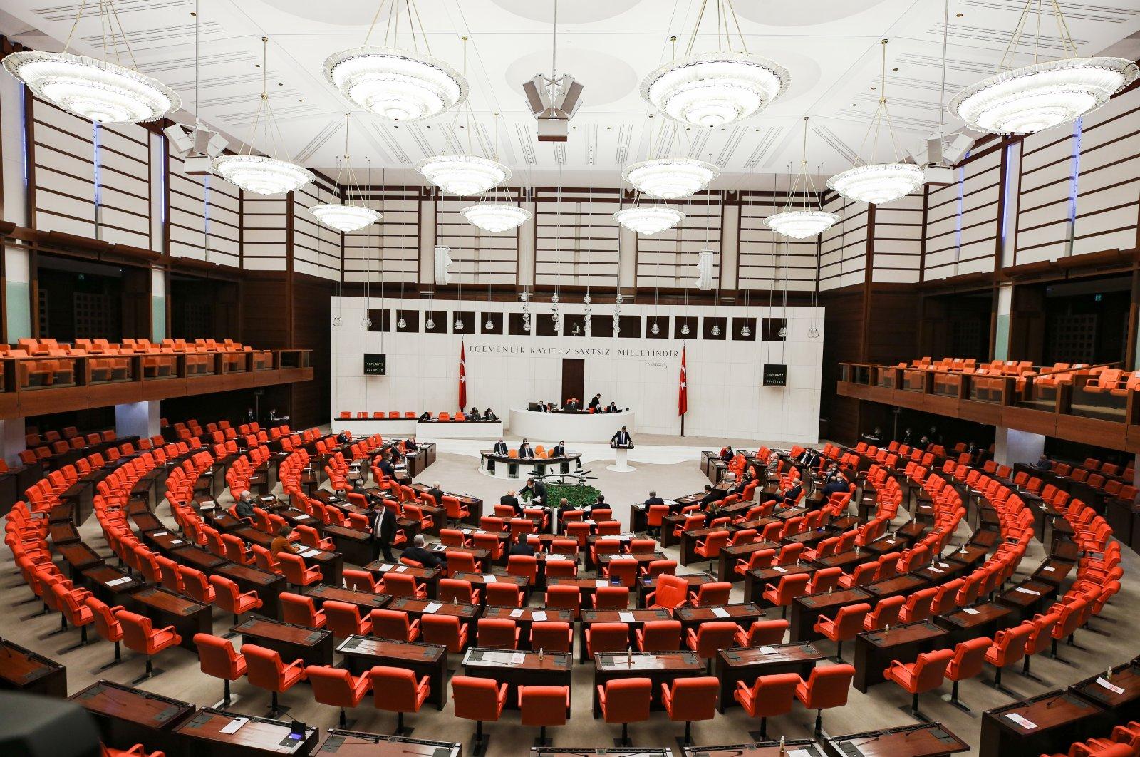 The Turkish Grand National Assembly (TBMM) gathered in the capital Ankara, Feb. 24, 2021 (AA Photo)
