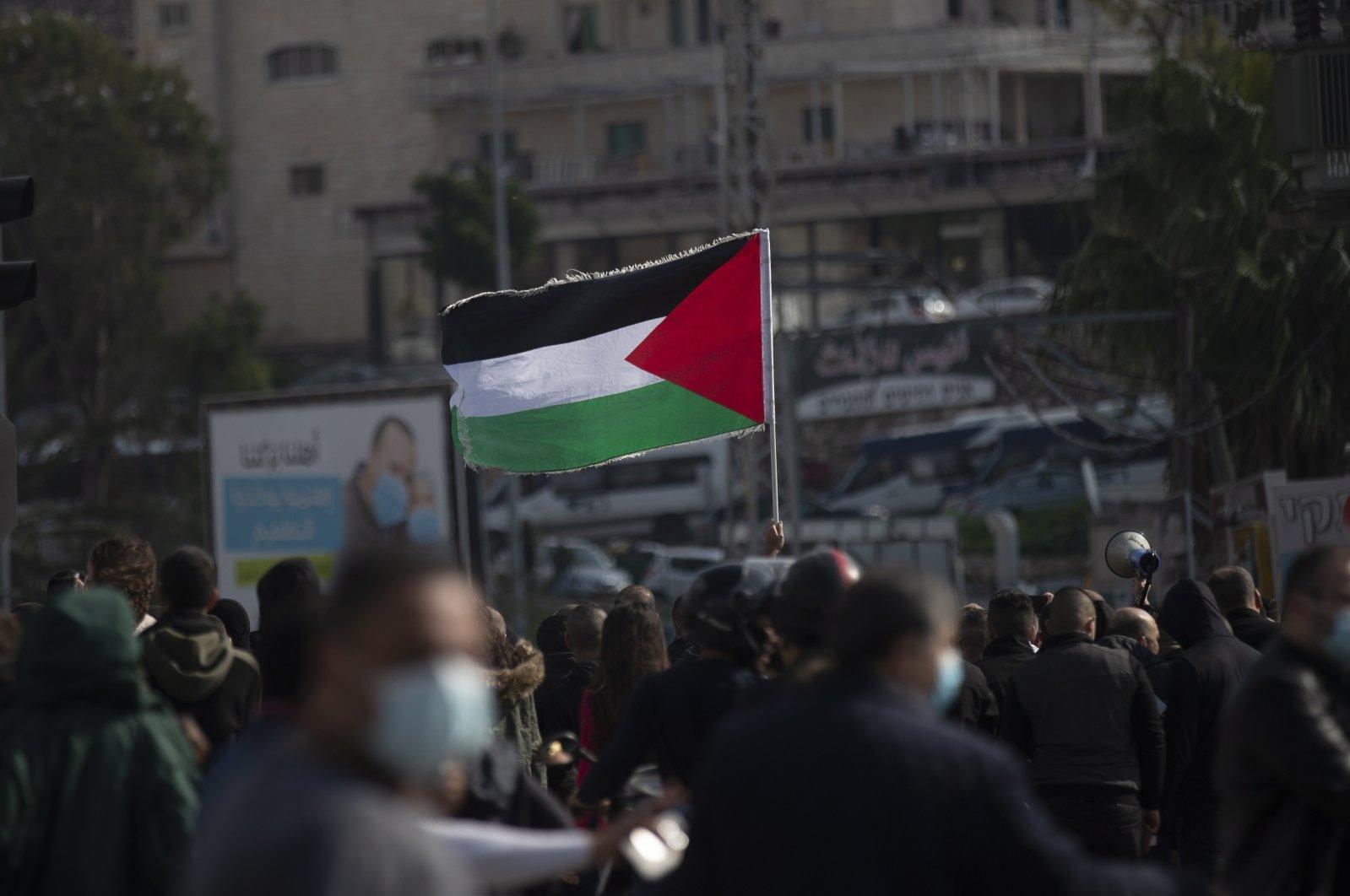 Israeli Arabs protest in Umm al-Fahm, northwest of Jenin, Haifa District, Israel, Feb. 5, 2021. (EPA File Photo)