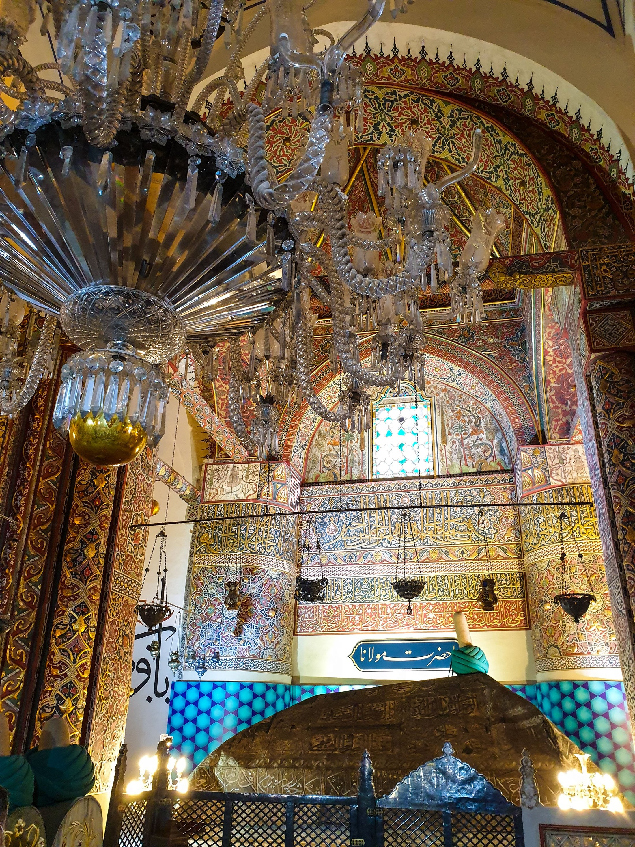 The tomb of Sufi philosopher Mevlana Jalaladdin Rumi. (Photo by Argun Konuk)