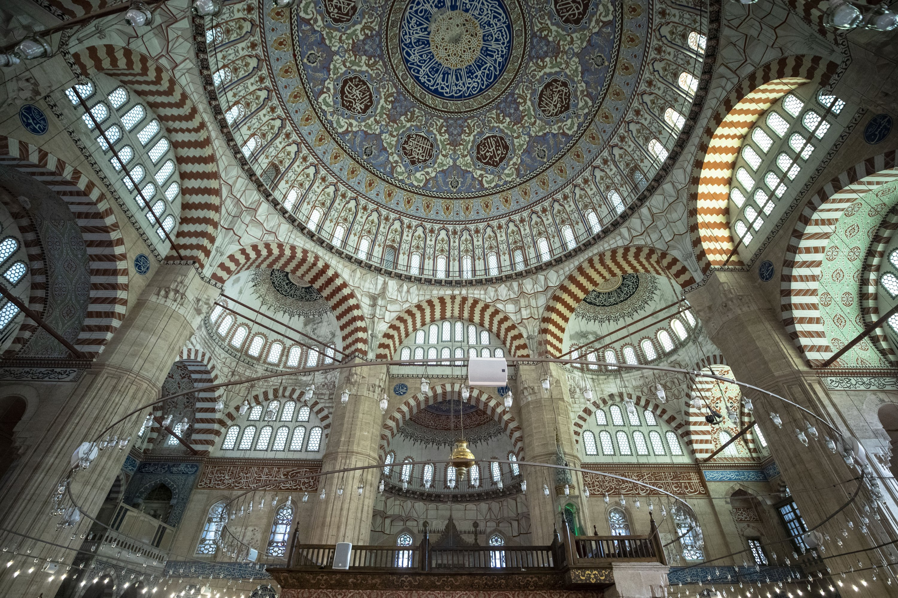 The ceiling of Selimiye Mosque in Edirne, Turkey, Aug. 30, 2020. (Getty Images)
