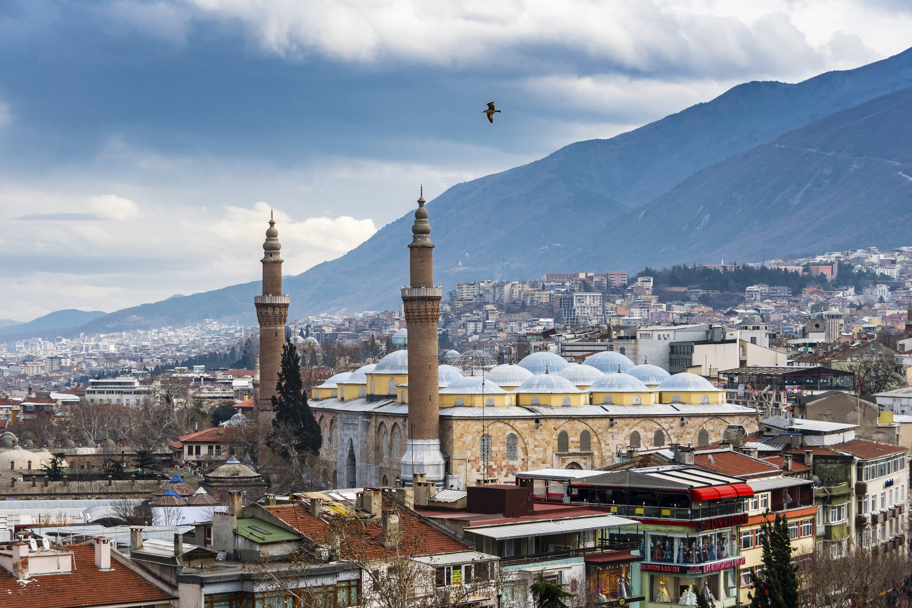 The Grand Mosque can be seen in a view from the city of Bursa, Turkey, Dec. 30, 2017. (Shutterstock Photo)