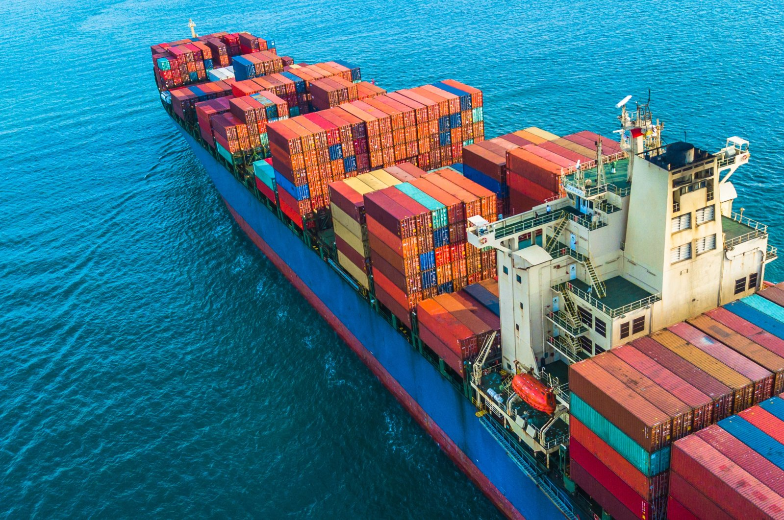 A container ship in the open sea. (Shutterstock Photo)