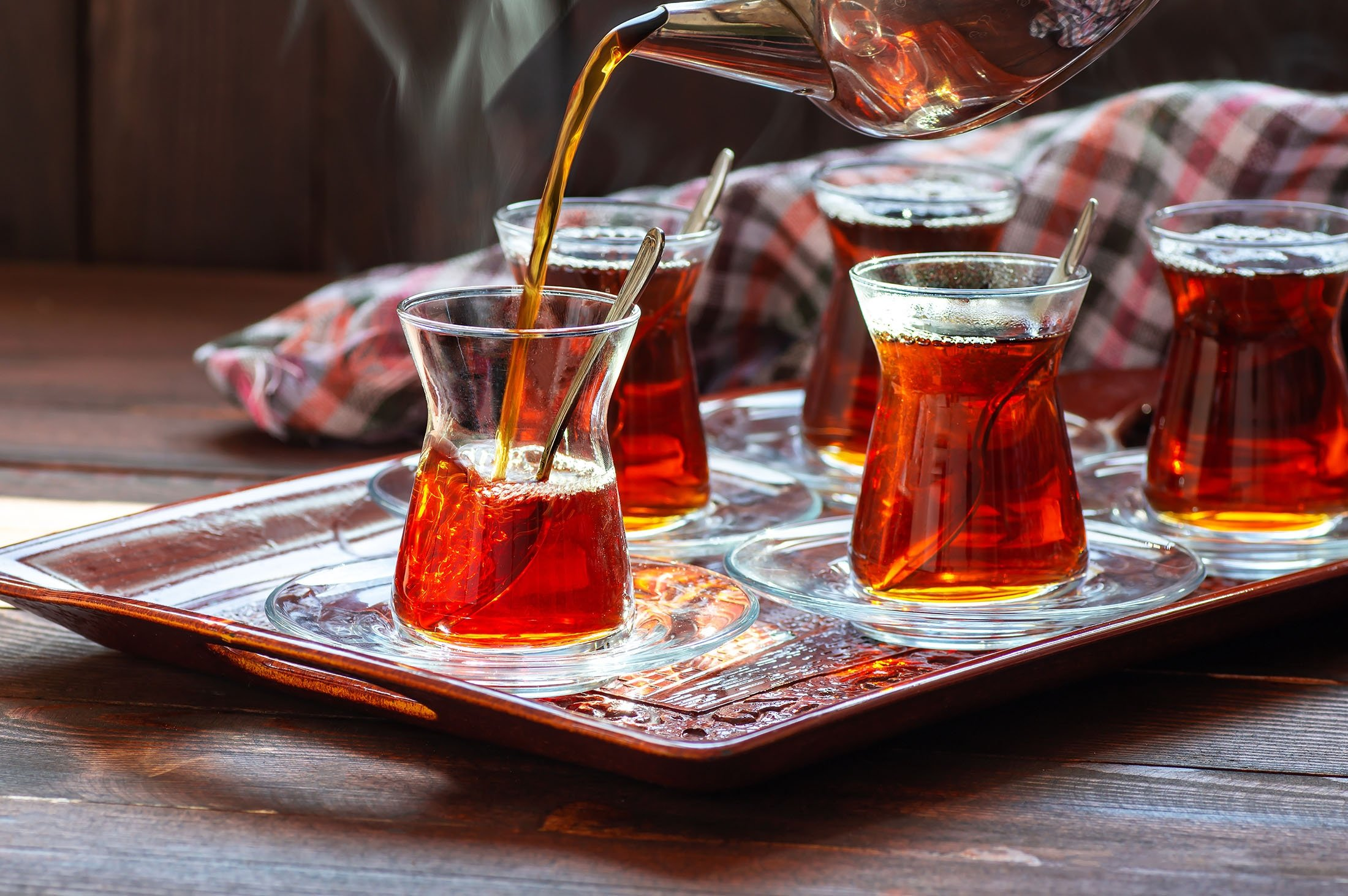 Turkish tea glasses are a widely used measurement in cooking. (Shutterstock Photo)
