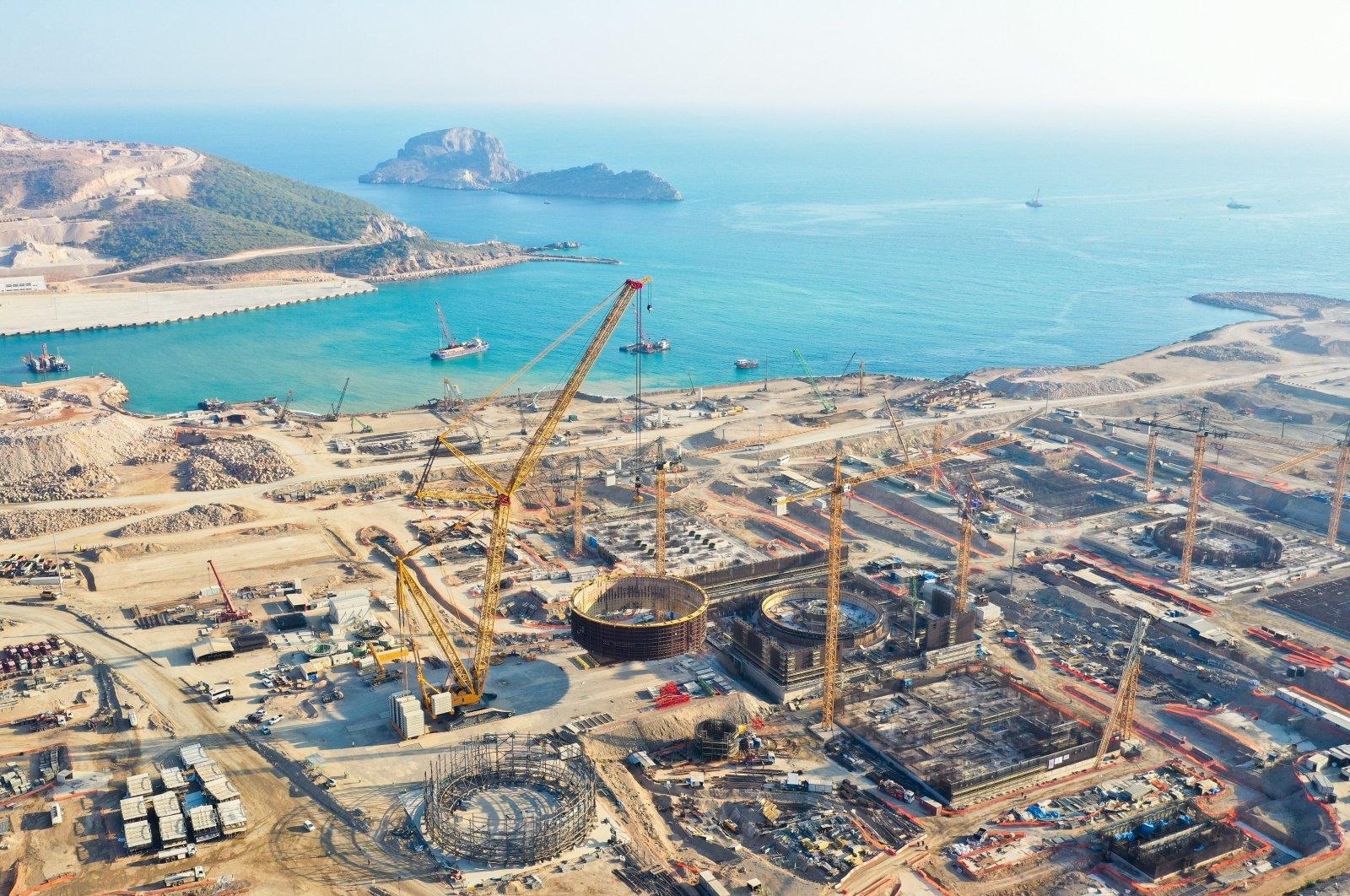 The construction site of the Akkuyu Nuclear Power Plantin southernMersin province, Turkey, Jan. 26, 2021. (IHA Photo)